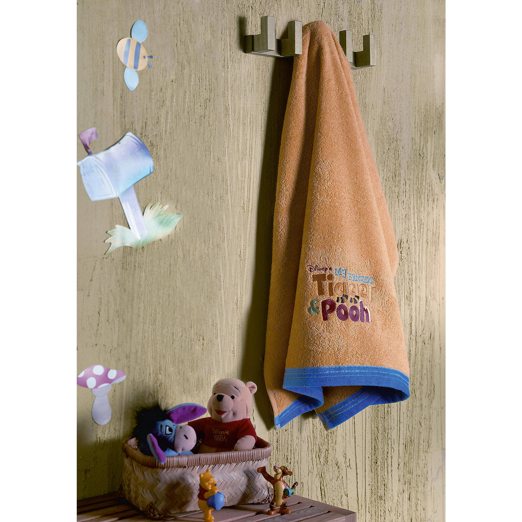 Махровое полотенце «Винни Пух» 50*90 см
