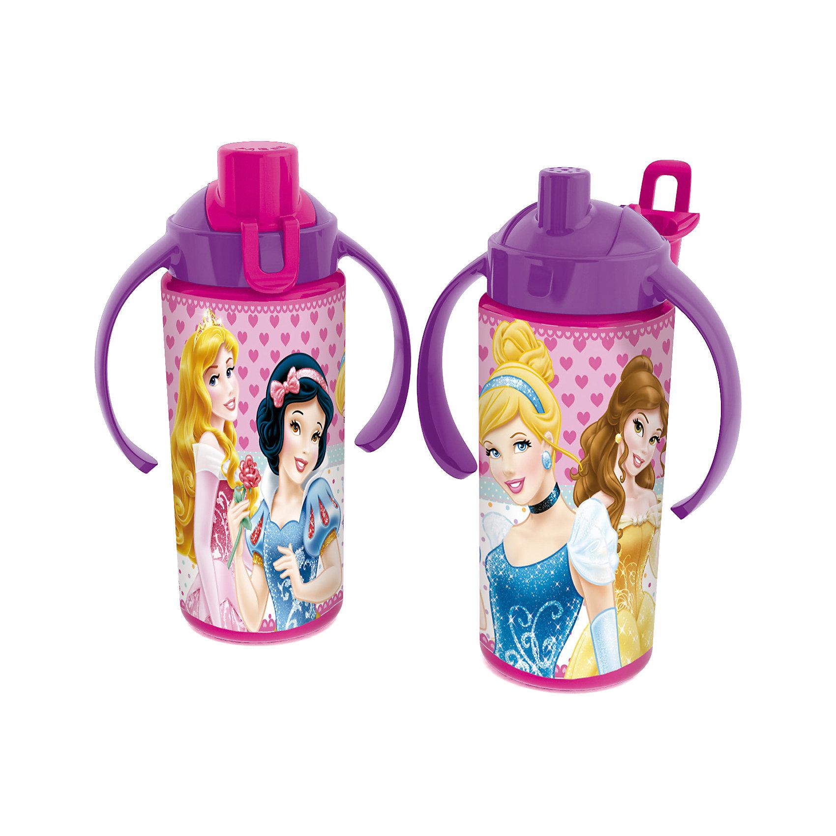 Бутылка спортивная с ручками (360 мл), ПринцессыВо время долгих и активных летних прогулок очень важно, чтобы ребенок потреблял достаточное количество жидкости. Спортивная бутылка Принцессы непременно станет любимицей на прогулке. Из яркой и удобной бутылочки с изображением любимых Принцесс Диснея (Disney Princess) любой напиток будет еще вкуснее! Благодаря удобным ручкам, держать бутылочку будет удобно даже малышам. Носик закрывается крышечкой, которая препятствует загрязнению и жидкость никогда не прольется. Бутылочка выполнена из безопасных материалов - Вы можете не беспокоиться о здоровье ребенка. Родителей особенно порадует, что бутылку очень легко поддерживать в чистоте. Берите спортивную бутылку Принцессы с собой в дорогу, на прогулку и Вы обязательно оцените ее удобство.<br><br>Дополнительная информация:<br><br>- Удобные ручки;<br>- Носик с крышечкой;<br>- Особенно понравится поклонникам мультфильмов про Принцесс Диснея (Disney Princess);<br>- Материал: высококачественный пластик;<br>- Объем: 360 мл;<br>- Размер: 18 х 7 х 7 см<br><br>Бутылку спортивную с ручками (360 мл) Принцессы, можно купить в нашем интернет-магазине.<br><br>Ширина мм: 110<br>Глубина мм: 65<br>Высота мм: 165<br>Вес г: 75<br>Возраст от месяцев: 36<br>Возраст до месяцев: 108<br>Пол: Женский<br>Возраст: Детский<br>SKU: 4088630