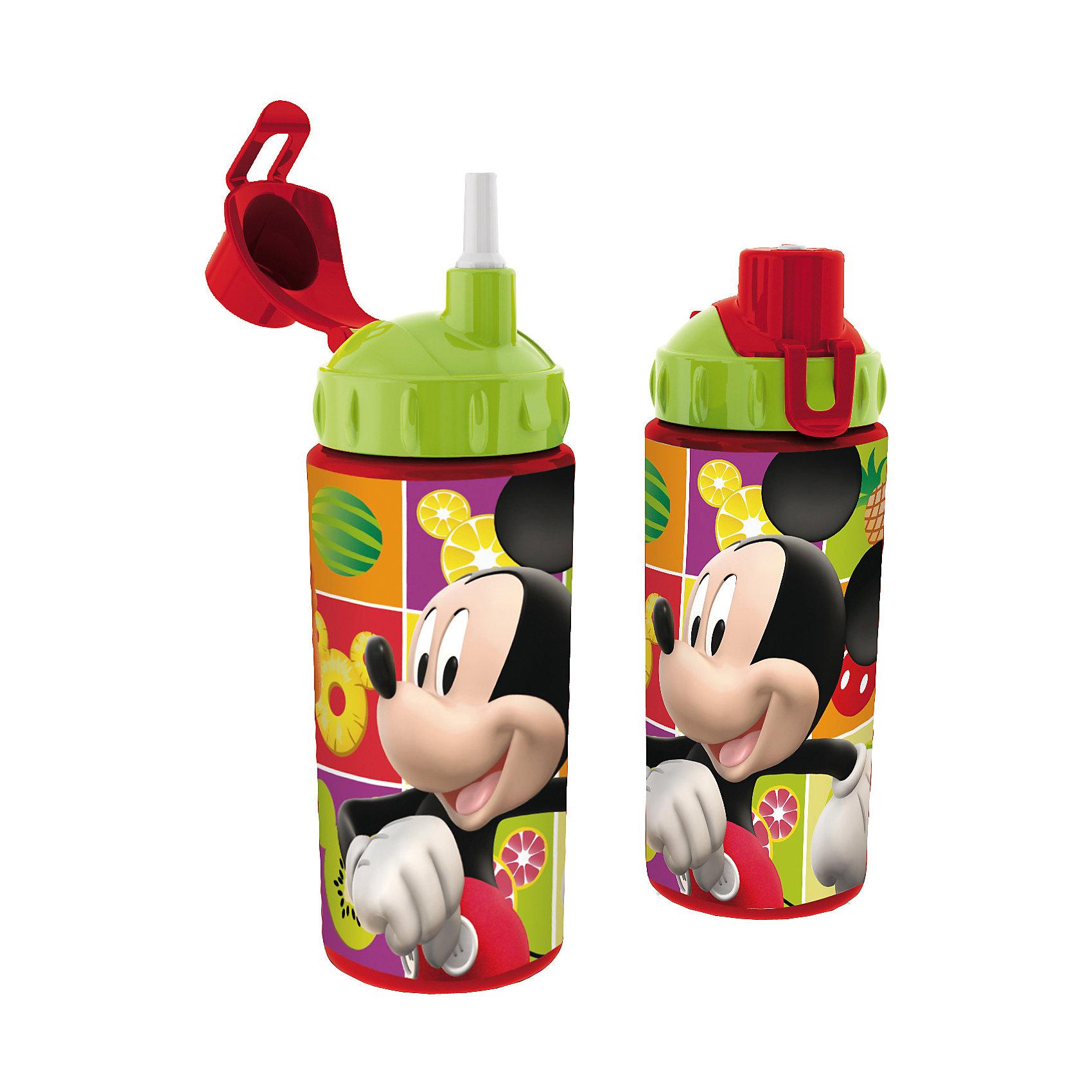 Бутылка спортивная с соломинкой (360 мл), Микки МаусВо время активных тренировок и долгих прогулок очень важно, чтобы ребенок потреблял достаточное количество жидкости. Спортивная бутылка Микки Маус (Mickey Mouse) непременно станет любимой у ребенка. Из яркой и удобной бутылочки с изображением любимца всех детей мышонка Микки, любой напиток будет еще вкуснее! Благодаря компактным размерам бутылку удобно брать в походы, поездки и в школу. Соломинка позволит пить даже на ходу! Носик бутылки закрывается крышечкой, которая препятствует загрязнению и жидкость никогда не прольется. Бутылочка выполнена из безопасных материалов - Вы можете не беспокоиться о здоровье ребенка. Родителей особенно порадует, что бутылку очень легко поддерживать в чистоте. Берите спортивную бутылку с соломинкой Микки Маус (Mickey Mouse) с собой в дорогу, на прогулку и Вы обязательно оцените ее удобство.<br><br>Дополнительная информация:<br><br>- С соломинкой;<br>- Носик с крышечкой;<br>- Особенно понравится поклонникам мультфильмов про Микки Мауса (Mickey Mouse);<br>- Материал: высококачественный пластик;<br>- Объем: 360 мл;<br>- Размер: 18 х 7 х 7 см<br><br>Бутылку спортивную с соломинкой (360 мл), Микки Маус (Mickey Mouse), можно купить в нашем интернет-магазине.<br><br>Ширина мм: 65<br>Глубина мм: 65<br>Высота мм: 165<br>Вес г: 75<br>Возраст от месяцев: 36<br>Возраст до месяцев: 108<br>Пол: Унисекс<br>Возраст: Детский<br>SKU: 4088632
