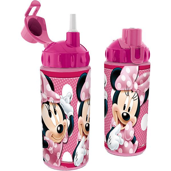 Бутылка спортивная с соломинкой (360 мл), Минни МаусМинни Маус<br>Во время активных тренировок и долгих прогулок очень важно, чтобы ребенок потреблял достаточное количество жидкости. Спортивная бутылка Минни Маус (Minnie Mouse) непременно станет любимой у ребенка. Из яркой и удобной бутылочки с изображением любимицы всех детей мышки Минни, любой напиток будет еще вкуснее! Благодаря компактным размерам бутылку удобно брать в походы, поездки и в школу. Соломинка позволит пить даже на ходу! Носик бутылки закрывается крышечкой, которая препятствует загрязнению и жидкость никогда не прольется. Бутылочка выполнена из безопасных материалов - Вы можете не беспокоиться о здоровье ребенка. Родителей особенно порадует, что бутылку очень легко поддерживать в чистоте. Берите спортивную бутылку с соломинкой Минни Маус (Minnie Mouse) с собой в дорогу, на прогулку и Вы обязательно оцените ее удобство.<br><br>Дополнительная информация:<br><br>- С соломинкой;<br>- Носик с крышечкой;<br>- Особенно понравится поклонникам мультфильмов про Минни Маус (Minnie Mouse);<br>- Материал: высококачественный пластик;<br>- Объем: 360 мл;<br>- Размер: 18 х 7 х 7 см<br><br>Бутылку спортивную с соломинкой (360 мл), Минни Маус (Minnie Mouse), можно купить в нашем интернет-магазине.<br>Ширина мм: 65; Глубина мм: 65; Высота мм: 165; Вес г: 75; Возраст от месяцев: 36; Возраст до месяцев: 108; Пол: Женский; Возраст: Детский; SKU: 4088633;
