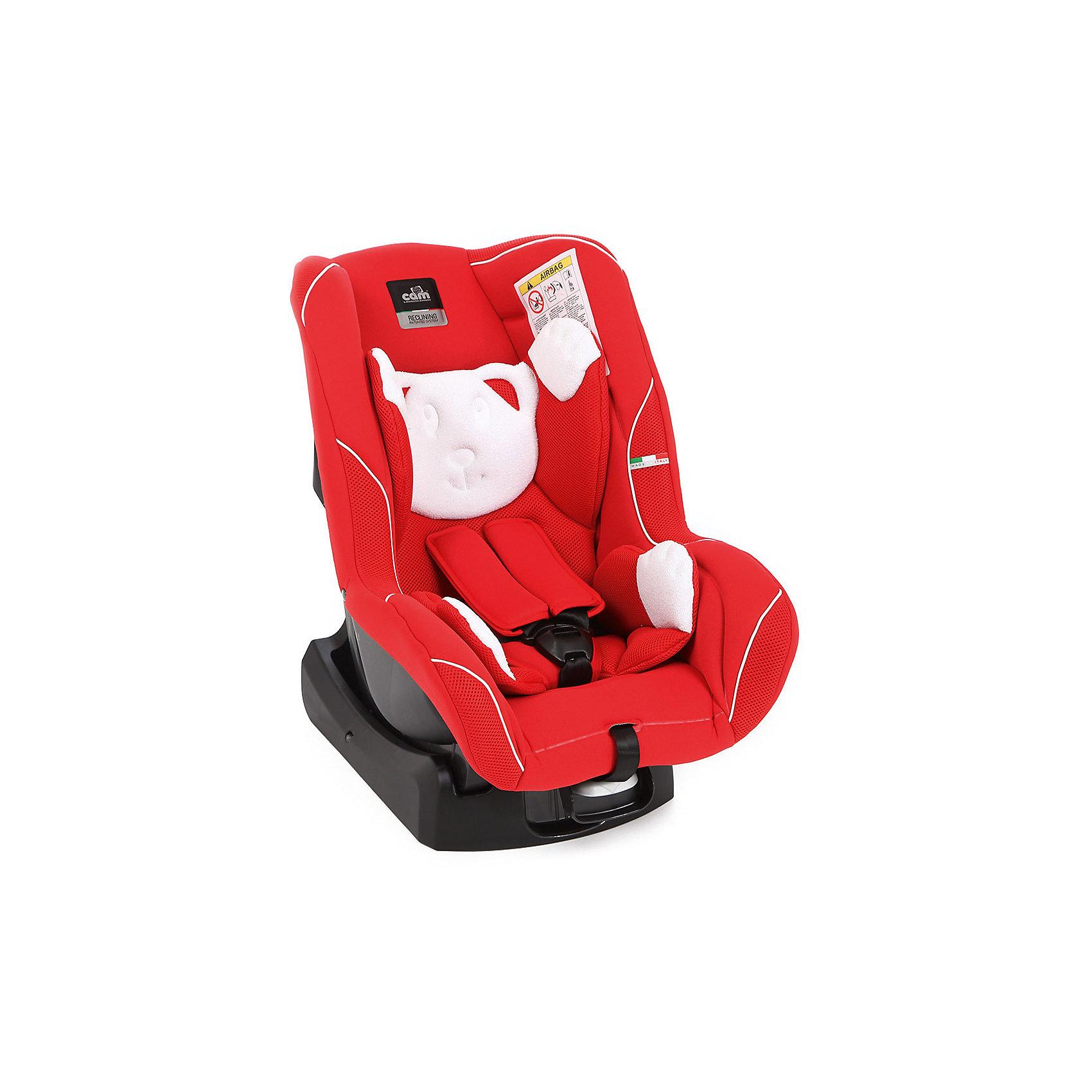 Автокресло с подголовником Auto Gara, 0-18 кг., CAM, красныйАвтокресло Auto Gara - прекрасный вариант для поездок и путешествий на автомобиле. Укрепленная анатомическая спинка, механизм регулировки высоты ремня и глубокая мягкая защита обеспечат малышу удобство и безопасность. Модель имеет прочную, устойчивую подставку, позволяющую устанавливать кресло не только в автомобиле, но и на любой другой горизонтальной поверхности. Спинка регулируется в 5 положениях, что позволяет креслу адаптироваться под наклон сидений автомобиля. Модель имеет внутренние 5- титочечные ремни безопасности с мягкими внутренними накладками для еще большего комфорта. Съемный износостойкий  чехол выполнен из гипоаллергенных материалов, прекрасно стирается в машине или же руками.<br><br>Дополнительная информация:<br><br>- Материал: пластик, текстиль.<br>- Вес ребенка: 0-18 кг. ( 0-4 года).<br>- Группа 0+/1.<br>- Размер: 60х43х61 см.<br>- Регулировка ремней и плечевых лямок.<br>- 5- титочечные ремни безопасности.<br>- Ортопедическая спинка.<br>- Цвет: красный. <br>- Стирка: ручная, машинная ( при 30 ? ).<br>- Способ установки: по ходу/против хода движения.<br><br>Автокресло Auto Gara, 0-18 кг., CAM, красное  можно купить в нашем магазине.<br><br>Ширина мм: 890<br>Глубина мм: 600<br>Высота мм: 420<br>Вес г: 6600<br>Цвет: красный<br>Возраст от месяцев: 0<br>Возраст до месяцев: 48<br>Пол: Унисекс<br>Возраст: Детский<br>SKU: 4089090
