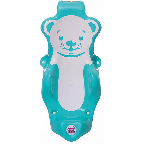 Горка для купания Buddy, Ok Baby, бирюзовыйТовары для купания<br>Удобная горка сделает купание безопасным, легким и очень приятным, обеспечив ребенку комфортное положение. Изделие прочно крепится с помощью присосок имеет три опорные точки и поверхность из нескользящего материала. Горка изготовлена из высококачественного прочного пластика безопасного для детей.  <br><br>Дополнительная информация:<br><br>- Материал: пластик.<br>- Размер: 28x25x64 см.<br>- Цвет: бирюзовый.<br>- Крепится с помощью присосок. <br><br>Горку для купания Buddy, OK BABY, бирюзовую , можно купить в нашем магазине.<br>Ширина мм: 630; Глубина мм: 310; Высота мм: 250; Вес г: 1083; Возраст от месяцев: 0; Возраст до месяцев: 8; Пол: Унисекс; Возраст: Детский; SKU: 4089122;