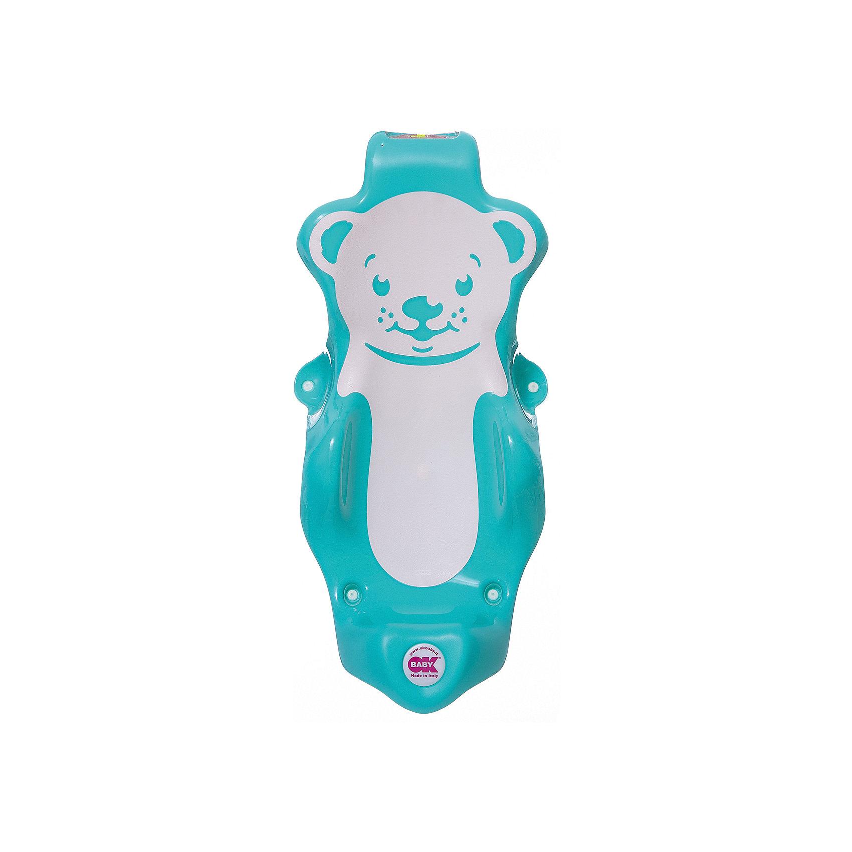 Горка для купания Buddy, Ok Baby, бирюзовыйТовары для купания<br>Удобная горка сделает купание безопасным, легким и очень приятным, обеспечив ребенку комфортное положение. Изделие прочно крепится с помощью присосок имеет три опорные точки и поверхность из нескользящего материала. Горка изготовлена из высококачественного прочного пластика безопасного для детей.  <br><br>Дополнительная информация:<br><br>- Материал: пластик.<br>- Размер: 28x25x64 см.<br>- Цвет: бирюзовый.<br>- Крепится с помощью присосок. <br><br>Горку для купания Buddy, OK BABY, бирюзовую , можно купить в нашем магазине.<br><br>Ширина мм: 630<br>Глубина мм: 310<br>Высота мм: 250<br>Вес г: 1083<br>Возраст от месяцев: 0<br>Возраст до месяцев: 8<br>Пол: Унисекс<br>Возраст: Детский<br>SKU: 4089122