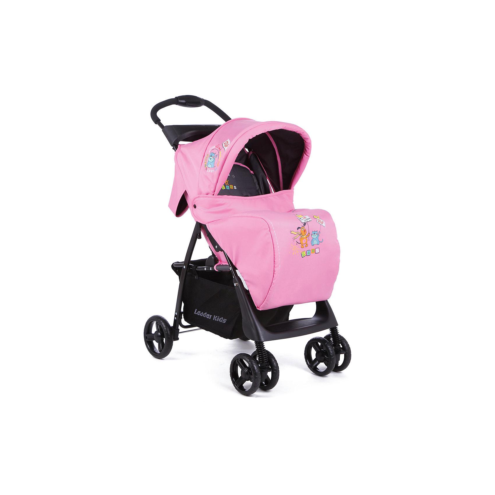 Прогулочная коляска В 110 Leader kids , розовый/серый