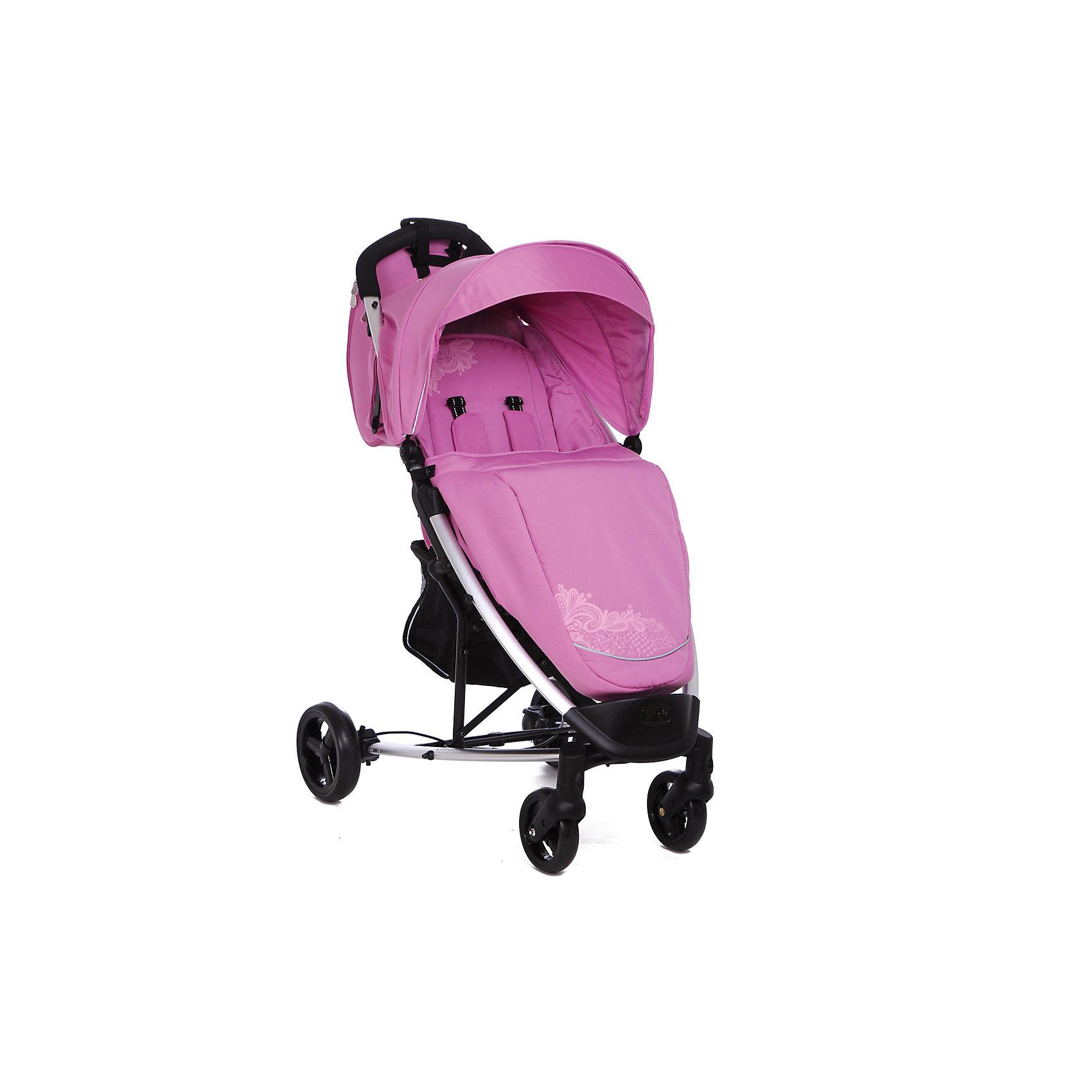 Прогулочная коляска S801L Leader kids , розовый/кружево