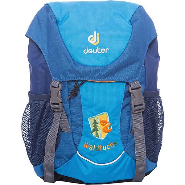 Школьный рюкзак Лиса, DeuterДорожные сумки и чемоданы<br>Рюкзак Лиса, Deuter (Дойтер) - этот удобный функциональный рюкзак для маленьких путешественников будет незаменим в поездках, походах и путешествиях. Рюкзак выполнен из прочных износоустойчивых материалов. Привлекательный дизайн с бирюзовой расцветкой и нашивкой с изображением лисы обязательно понравится Вашему ребенку. У рюкзака мягкая спинка, усиленная съемным ковриком, мягкие плечевые лямки регулируются по длине, нагрудный ремень позволяет прочно зафиксировать рюкзак на теле. Также есть удобная текстильная ручка для транспортировки. Рюкзак закрывается большим клапаном с удобными застежками, внутри просторное отделение, карман на молнии для ключей и нашивка с именной биркой. Также имеются два сетчатых кармана по бокам и большой карман на липучке Velcro на лицевой стороне. Усиленное дно защитит содержимое рюкзака от повреждений. Есть петли для подвешивания фонарика или необходимого в походе снаряжения и две застежки для надежного крепления куртки под верхним клапаном. <br><br>Дополнительная информация:<br><br>- Материал: Deuter-Microrip-Nylon (нейлон), Deuter-Super-Polytex (полиэстер).  <br>- Размер: 24 х 35 х 15 см.<br>- Объем: 10 л.<br>- Вес: 0,35 кг.<br><br>Бирюзовый рюкзак Лиса Deuter (Дойтер) можно купить в нашем интернет-магазине.<br><br>Ширина мм: 150<br>Глубина мм: 240<br>Высота мм: 350<br>Вес г: 350<br>Возраст от месяцев: 72<br>Возраст до месяцев: 144<br>Пол: Унисекс<br>Возраст: Детский<br>SKU: 4089704