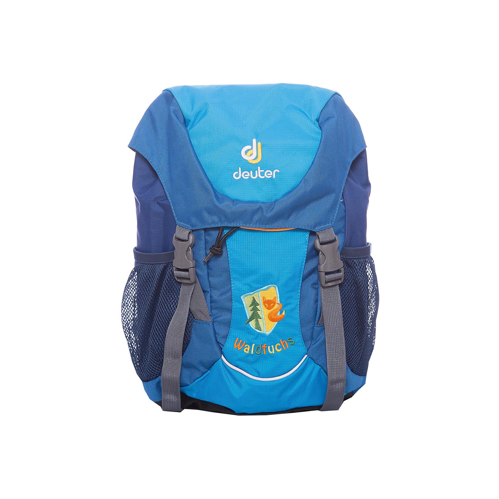 Школьный рюкзак Лиса, DeuterРюкзак Лиса, Deuter (Дойтер) - этот удобный функциональный рюкзак для маленьких путешественников будет незаменим в поездках, походах и путешествиях. Рюкзак выполнен из прочных износоустойчивых материалов. Привлекательный дизайн с бирюзовой расцветкой и нашивкой с изображением лисы обязательно понравится Вашему ребенку. У рюкзака мягкая спинка, усиленная съемным ковриком, мягкие плечевые лямки регулируются по длине, нагрудный ремень позволяет прочно зафиксировать рюкзак на теле. Также есть удобная текстильная ручка для транспортировки. Рюкзак закрывается большим клапаном с удобными застежками, внутри просторное отделение, карман на молнии для ключей и нашивка с именной биркой. Также имеются два сетчатых кармана по бокам и большой карман на липучке Velcro на лицевой стороне. Усиленное дно защитит содержимое рюкзака от повреждений. Есть петли для подвешивания фонарика или необходимого в походе снаряжения и две застежки для надежного крепления куртки под верхним клапаном. <br><br>Дополнительная информация:<br><br>- Материал: Deuter-Microrip-Nylon (нейлон), Deuter-Super-Polytex (полиэстер).  <br>- Размер: 24 х 35 х 15 см.<br>- Объем: 10 л.<br>- Вес: 0,35 кг.<br><br>Бирюзовый рюкзак Лиса Deuter (Дойтер) можно купить в нашем интернет-магазине.<br><br>Ширина мм: 150<br>Глубина мм: 240<br>Высота мм: 350<br>Вес г: 350<br>Возраст от месяцев: 72<br>Возраст до месяцев: 144<br>Пол: Унисекс<br>Возраст: Детский<br>SKU: 4089704