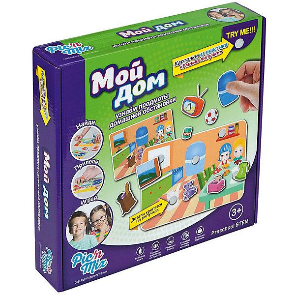Игра Мой дом, PicnMixОкружающий мир<br>Если Вы хотите занять малыша чем-то увлекательным и в то же время полезным, то игра Мой дом, от Pic`n Mix - то, что Вы искали! В забавной игровой форме кроха легко выучит названия предметов интерьера, их цвета и назначение. Расскажите малышу куда и что можно поставить и он с удовольствием будет создавать  интерьеры комнат. Игра выполнена из безопасных материалов и прекрасно подходит для малышей. Малыш будет с удовольствием украшать поля, приклеивая на них различные предметы интерьера. Пазл-липучка Мой дом будет способствовать развитию логического мышления, памяти, а также мелкой моторики рук.<br><br>Дополнительная информация:<br><br>- Развивает логику, память, мелкую моторику;<br>- 4 игровых поля;<br>- Яркие цвета;<br>- Размер упаковки: 25 х 16 х 5,2 см;<br>- Вес: 300 г<br><br>Игру Мой дом, Pic`n Mix можно купить в нашем интернет-магазине.<br><br>Ширина мм: 250<br>Глубина мм: 160<br>Высота мм: 52<br>Вес г: 300<br>Возраст от месяцев: 36<br>Возраст до месяцев: 60<br>Пол: Унисекс<br>Возраст: Детский<br>SKU: 4089708