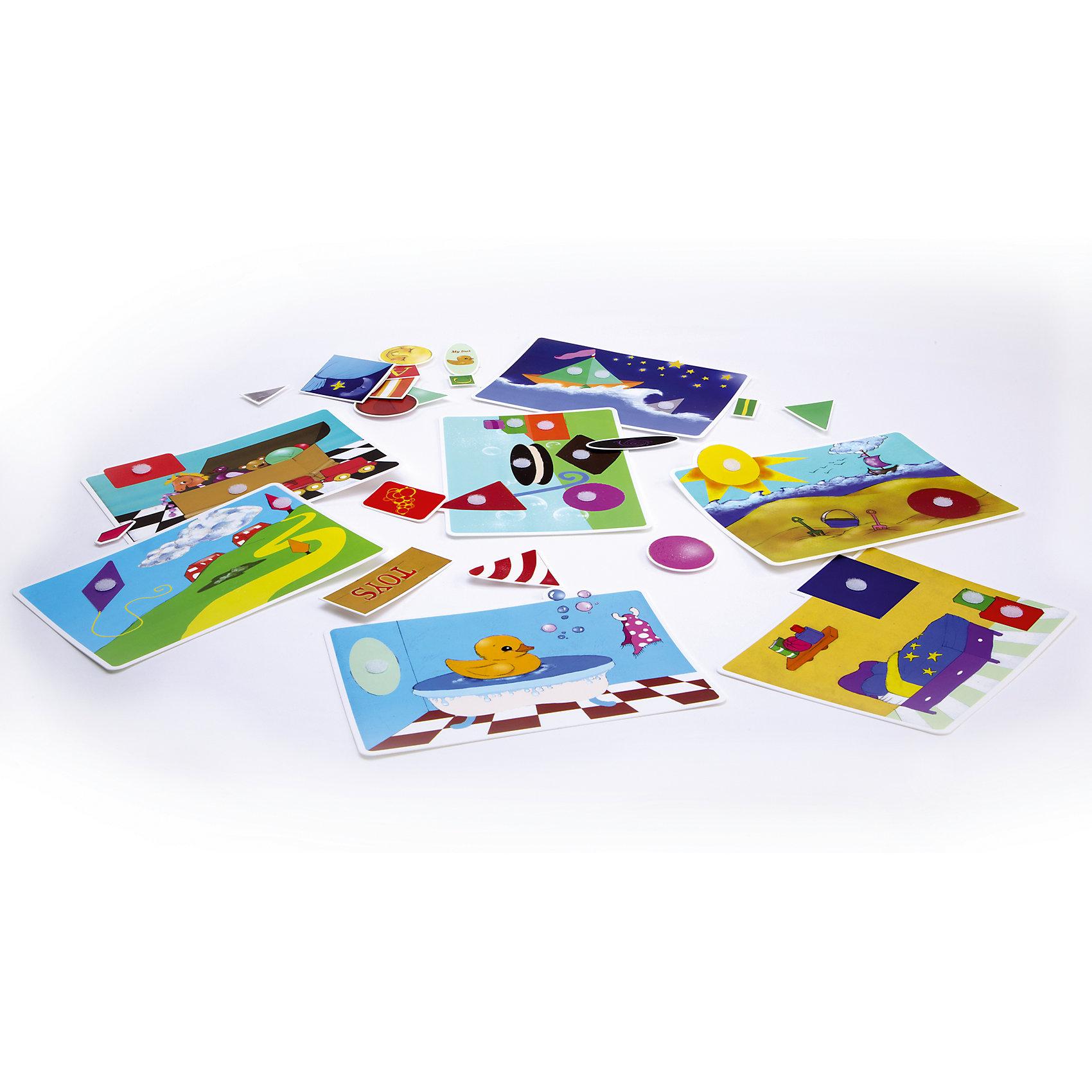 Игра Веселые фигурки, PicnMixИгры для дошкольников<br>Если Вы хотите занять малыша чем-то увлекательным и в то же время полезным, то игра Веселые фигурки, от Pic`n Mix - то, что Вы искали! В забавной игровой форме кроха легко выучит названия геометрических фигур, и будет с легкостью находить их в окружающих предметах. Игра выполнена из безопасных материалов и прекрасно подходит для малышей. Кроха будет с удовольствием находить квадрат, круг, ромб и другие фигуры и приклеивать на них на нужные места. Пазл-липучка Веселые фигурки будет способствовать развитию логического мышления, памяти, а также мелкой моторики рук.<br><br>Дополнительная информация:<br><br>- Развивает логику, память, мелкую моторику;<br>- 7 игровых полей;<br>- Яркие цвета;<br>- Размер упаковки: 25 х 16 х 5,2 см;<br>- Вес: 300 г<br><br>Игру Веселые фигурки, Pic`n Mix можно купить в нашем интернет-магазине.<br><br>Ширина мм: 250<br>Глубина мм: 160<br>Высота мм: 52<br>Вес г: 300<br>Возраст от месяцев: 36<br>Возраст до месяцев: 60<br>Пол: Унисекс<br>Возраст: Детский<br>SKU: 4089710