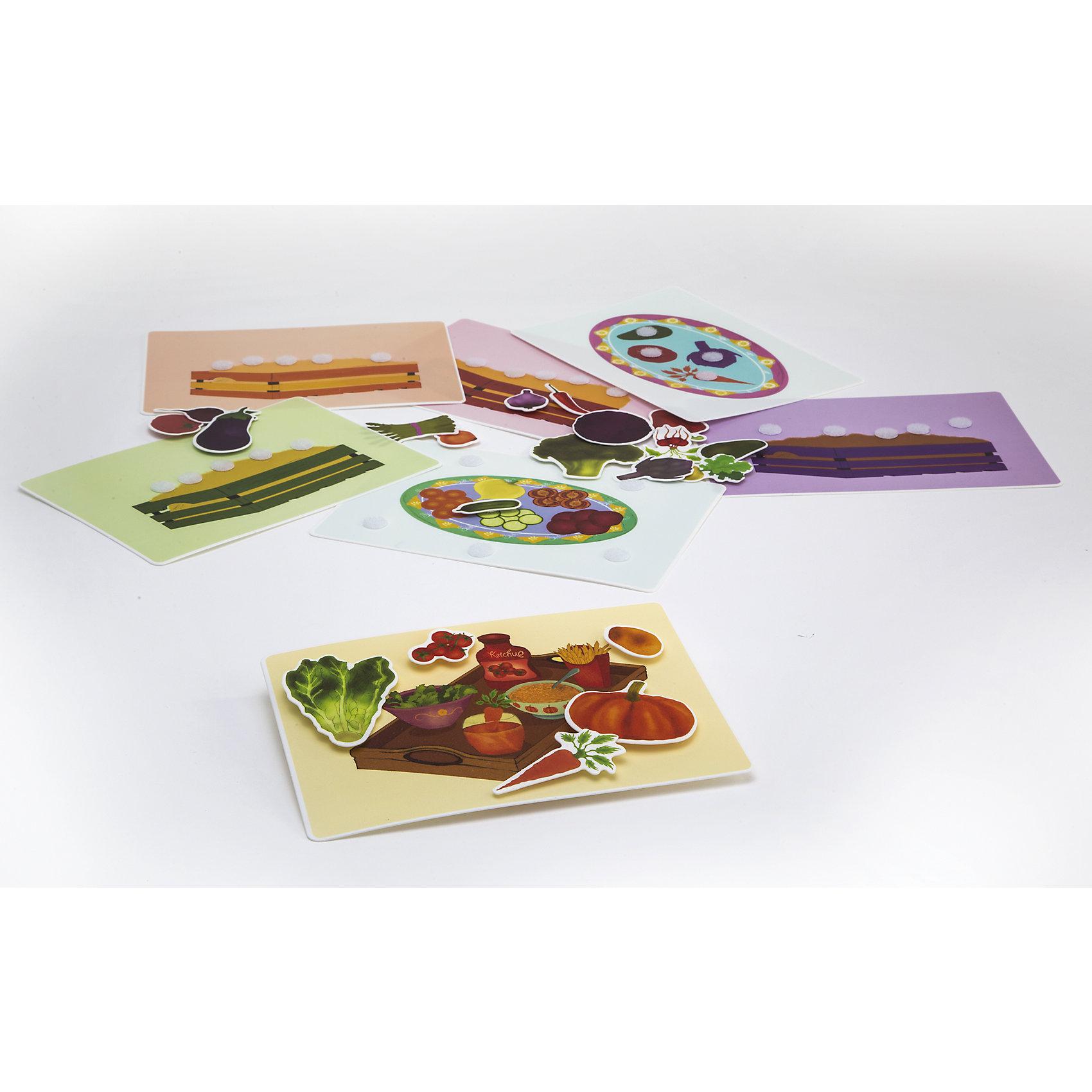 Игра Овощная корзинка, PicnMixИгры для дошкольников<br>Если Вы хотите занять малыша чем-то увлекательным и в то же время полезным, то игра Овощная корзинка, от Pic`n Mix - то, что Вы искали! В забавной игровой форме кроха легко выучит названия овощей, их цвета и даже блюда, которые из них готовят. Игра выполнена из безопасных материалов и прекрасно подходит для малышей. Кроха будет с удовольствием заполнять семь ярких игровых полей, приклеивая на них овощи. Пазл-липучка Овощная корзинка будет способствовать развитию логического мышления, памяти, а также мелкой моторики рук.<br><br>Дополнительная информация:<br><br>- Развивает логику, память, мелкую моторику;<br>- 7 игровых полей;<br>- Яркие цвета;<br>- Размер упаковки: 25 х 16 х 5,2 см;<br>- Вес: 300 г<br><br>Игру Овощная корзинка, Pic`n Mix можно купить в нашем интернет-магазине.<br><br>Ширина мм: 250<br>Глубина мм: 160<br>Высота мм: 52<br>Вес г: 300<br>Возраст от месяцев: 36<br>Возраст до месяцев: 60<br>Пол: Унисекс<br>Возраст: Детский<br>SKU: 4089713