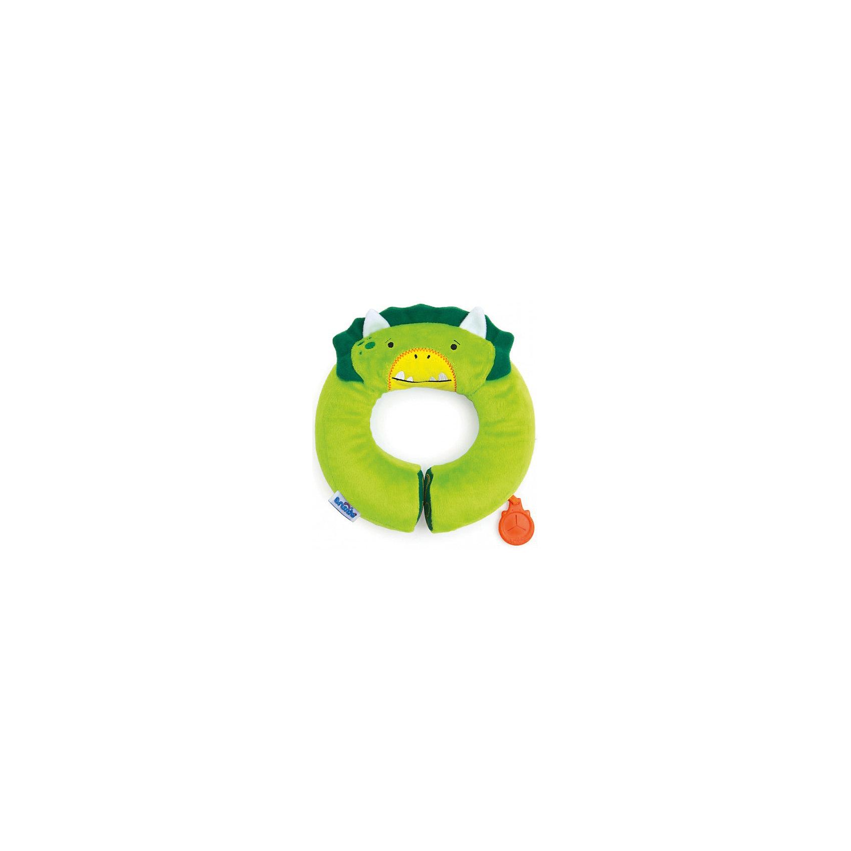 Зеленый подголовник Дино, YondiЯркий и мягкий подголовник для детей Динозавр ярко-зеленого цвета позволит сделать путешествие ребенка комфортным.<br>Подголовник сделан из мягкого приятного на ощупь материала, а потому малышу так понравится спать на нем в дороге. Специальным наполнитель позволит создать анатомическую форму и облегчит нагрузку на шею и плечевые мышцы малыша.<br>Подголовник выполнен в ярком зеленом цвете в виде мордочки забавного лисенка с ушками. Это позволяет использовать аксессуар в качестве игрушки.<br>Универсальный держатель Trunki Grip позволяет закрепить одеялко или же повесить солнцезащитные детские очки. <br><br>Дополнительная информация:<br><br>Внутренний диаметр подголовника: 10 см (окружность 28 см).<br>Внешний диаметр 20 см.<br>Вес: около 100 грамм.<br>Подголовник соответствует международным стандартам безопасности: CE и ASTM.<br>Возможно использование с детскими автокреслами.<br><br>Зеленый подголовник Дино, Yondi можно купить в нашем магазине.<br><br>Ширина мм: 200<br>Глубина мм: 200<br>Высота мм: 50<br>Вес г: 100<br>Возраст от месяцев: 36<br>Возраст до месяцев: 84<br>Пол: Унисекс<br>Возраст: Детский<br>SKU: 4090986