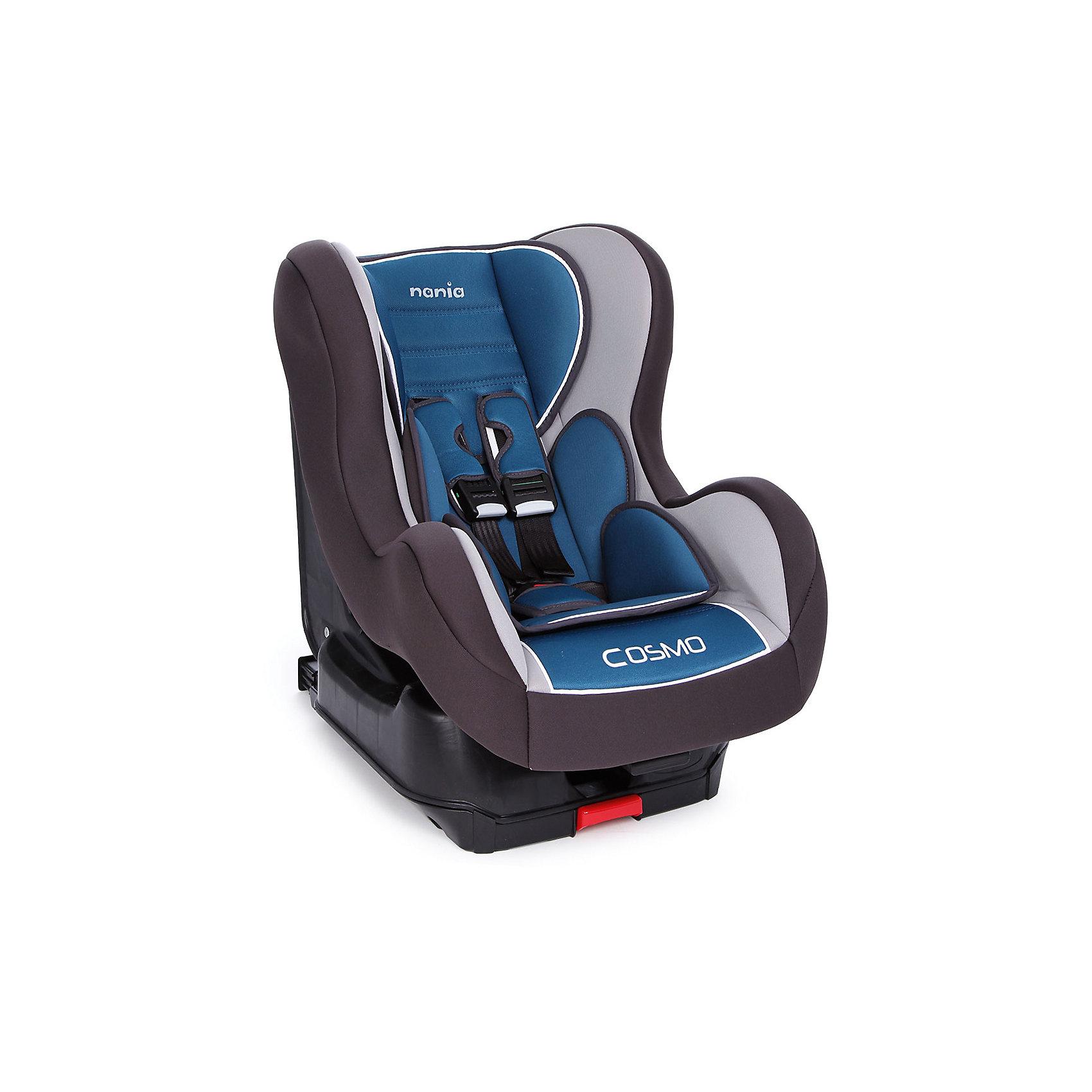 Автокресло Nania Cosmo SP Isofix LUX, 9-18 кг, Agora PetroleГруппа 1 (От 9 до 18 кг)<br>Автокресло Cosmo SP Isofix LUX от Nania (Нания) несомненно станет Вашим главным помощником во время путешествий с малышом. Кресло оснащено самой современной системой крепления Isofix, которая повышает стабильность и безопасность в дороге. Установить такое кресло неправильно просто невозможно. При разработке кресла Cosmo SP Isofix LUX были учтены все потребности ребенка во время путешествий. За безопасность маленького пассажира отвечает прочный каркас и усиленная боковая защита. Малыша в кресле надежно удержат мягкие пятиточечные ремни безопасности с удобной регулировкой. Голову ребенка защитит мягкий регулируемый подголовник. Благодаря пяти положениям наклона спинки, Ваш малыш сможет с комфортом отдохнуть в дороге. Для безопасной перевозки маленьких детей кресло Cosmo SP Isofix LUX оборудовано анатомическим вкладышем и мягким подголовником. Благодаря съемному чехлу, который можно стирать, кресло всегда будет выглядеть как новое. <br><br>Дополнительная информация: <br><br>- Имеет европейский сертификат ECE R44/04;<br>- Группа: 1 (9-18 кг);<br>- Крепление Isofix;<br>- Усиленная боковая защита;<br>- 5 удобных положений спинки;<br>- Мягкий подголовник;<br>- Пятиточечные ремни безопасности с удобной регулировкой;<br>- Легкое крепление в автомобиле;<br>- Ударопрочный каркас;<br>- Тканевый чехол можно снимать и стирать при щадящем режиме; <br>- Размер сидения: 33 х 31 см;<br>- Внешние размеры (Д х Ш х В): 54 х 45 х 61 см;<br>- Цвет: Agora Petrole (серый/синий);<br>- Вес: 9,3 кг<br><br>Автокресло Cosmo SP Isofix LUX, 9-18 кг., Nania (Нания), Agora Petrole можно купить в нашем интернет-магазине.<br><br>Ширина мм: 670<br>Глубина мм: 550<br>Высота мм: 470<br>Вес г: 9927<br>Возраст от месяцев: 9<br>Возраст до месяцев: 36<br>Пол: Унисекс<br>Возраст: Детский<br>SKU: 4092602