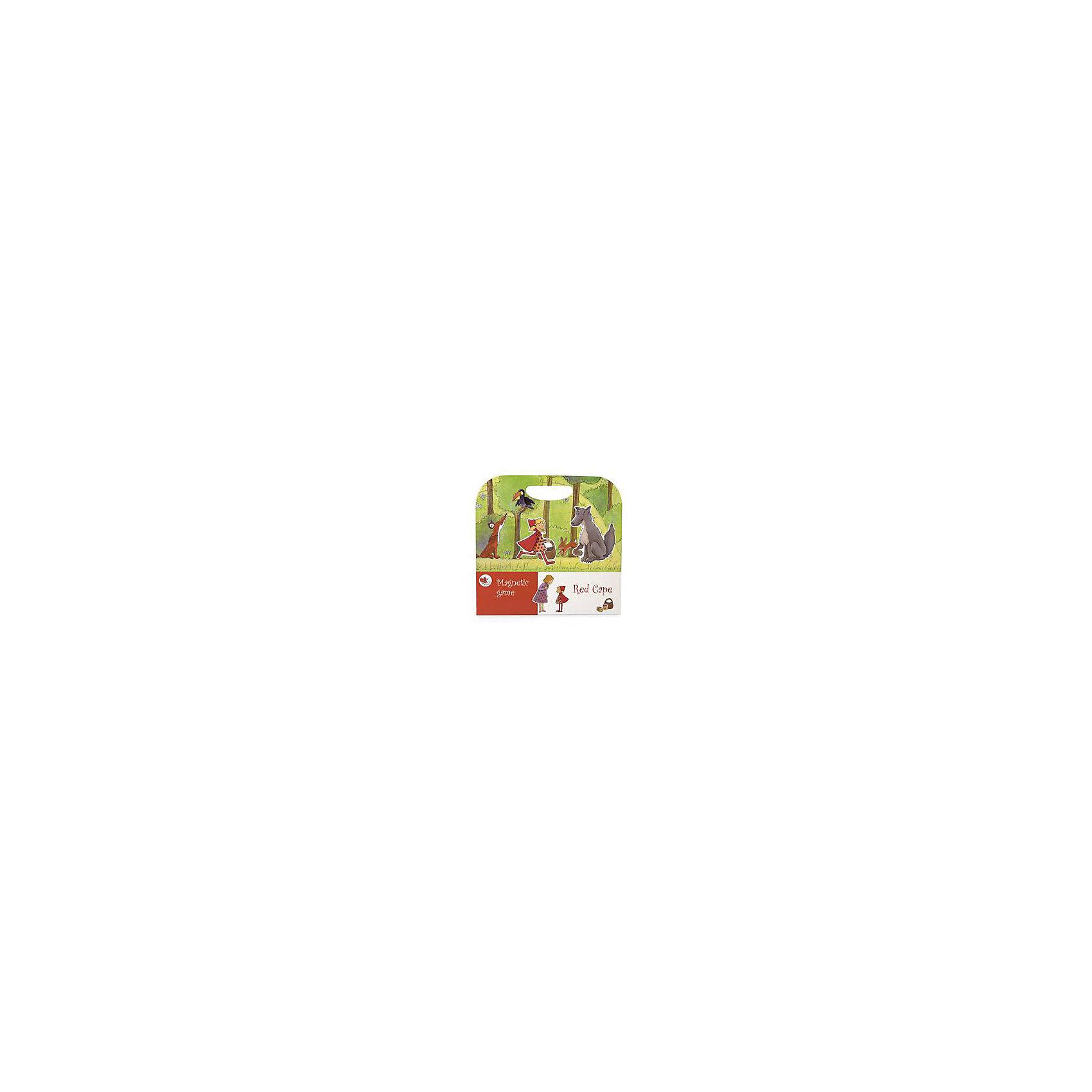 Детская настольная магнитная игра Красная шапочка, Egmont ToysРазвивающие игры<br>Все любители сказки про Красную шапочку смогут поучаствовать в увлекательном путешествии маленькой девочки в темном лесу. На страницах магнитной книги много красочных персонажей и интересных героев, которые отправляются на поиски приключений. <br><br>Настольная игра выполнена в виде книги, а специальные магниты позволяют дополнить ее и сделать историю более увлекательной. В процессе игры у ребенка развивается изображение, он учится сопоставлять и анализировать. Игра с мелкими деталями развивает моторные функции ребенка. <br><br>Дополнительная информация:<br><br>В наборе: книга и 20 магнитов. <br>Размер в упаковке: 24 х 25 х 1,5 см<br><br>Магнитную игру Красная шапочка можно купить в нашем магазине.<br><br>Ширина мм: 240<br>Глубина мм: 250<br>Высота мм: 15<br>Вес г: 250<br>Возраст от месяцев: 36<br>Возраст до месяцев: 72<br>Пол: Унисекс<br>Возраст: Детский<br>SKU: 4093771