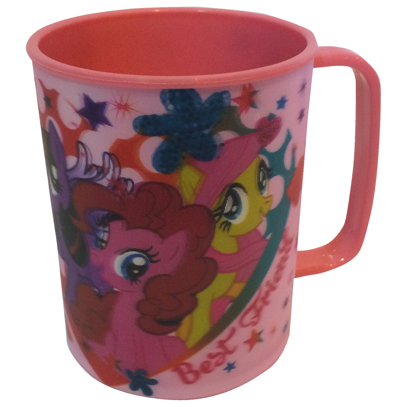 Розовая кружка 300 мл, My little PonyЯркая привлекательная посуда с симпатичными персонажами поможет ребенку быстрее освоить навыки самостоятельного питания. Кружка My little Pony (Май литл Пони) выполнена в приятной розовой расцветке по мотивам популярного мультсериала Моя маленькая пони и украшена стерео изображением его героинь - волшебных лошадок. Материал представляет собой качественный пищевой пластик, не вызывающий аллергии и безопасный для детского здоровья. Имеется удобная для ребенка ручка и закругленные края. <br><br>Дополнительная информация:<br><br>- Материал: пластик.<br>- Объем: 300 мл.<br>- Размер кружки: 9,5 х 7,6 см.<br>- Размер упаковки: 7,5 х 9 х 10 см.<br>- Вес: 52 гр.<br><br>Розовую кружку 300 мл, My little Pony (Май литл Пони), можно купить в нашем интернет-магазине.<br><br>Ширина мм: 7<br>Глубина мм: 90<br>Высота мм: 100<br>Вес г: 52<br>Возраст от месяцев: 36<br>Возраст до месяцев: 168<br>Пол: Женский<br>Возраст: Детский<br>SKU: 4093850