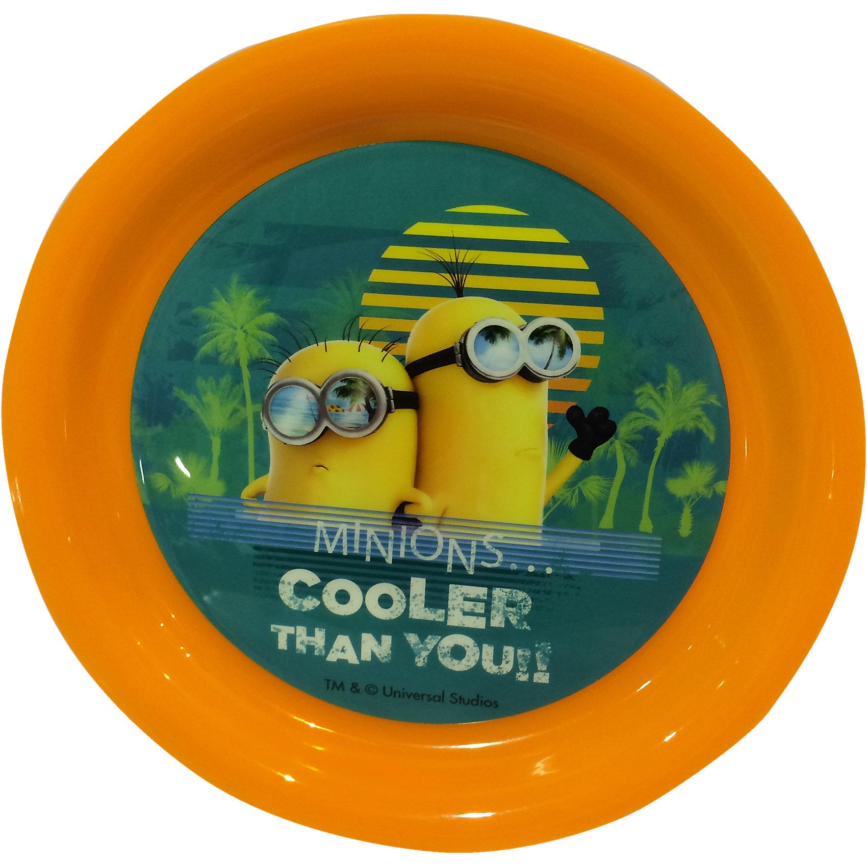 Оранжевая тарелка, МиньоныПосуда<br>Оригинальная детская тарелка Миньоны станет приятным сюрпризом для Вашего ребенка и отлично подойдет для повседневного использования. Тарелка выполнена в ярком красочном дизайне по мотивам популярного мультфильма Гадкий Я (Despicable Me) и украшена изображением забавных персонажей  - миньонов. Материал представляет собой качественный пищевой пластик, не вызывающий аллергии и безопасный для детского здоровья.<br><br>Дополнительная информация:<br><br>- Материал: пластик.<br>- Диаметр тарелки: 19,8 см.<br>- Размер: 19,8 х 19,8 х 3 см.<br>- Вес: 50 гр.<br><br>Оранжевую тарелку, Миньоны, можно купить в нашем интернет-магазине.<br><br>Ширина мм: 198<br>Глубина мм: 198<br>Высота мм: 30<br>Вес г: 50<br>Возраст от месяцев: 36<br>Возраст до месяцев: 192<br>Пол: Унисекс<br>Возраст: Детский<br>SKU: 4093878