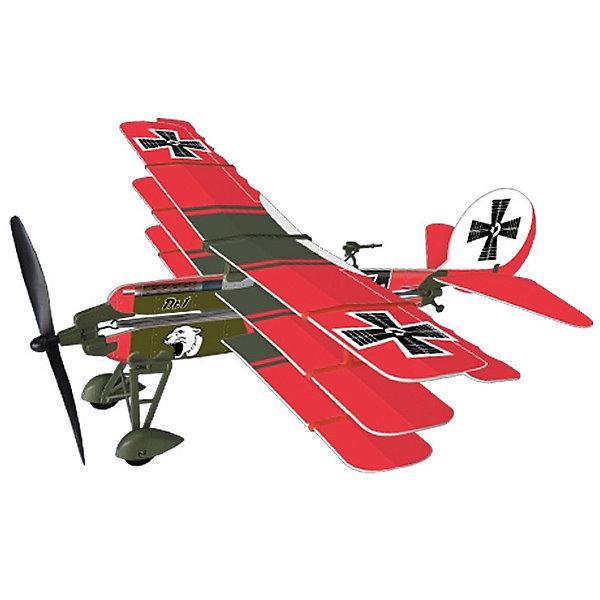 Самолет с резиномотором History Plane Dr.1 Airplane, LYONAEECСамолёты и вертолёты<br>Любой мальчишка придет в восторг от самолета History Plane Dr.1 Airplane от LYONAEEC! Легкую и изящную модель самолета катапультного типа удобно носить с собой. С его помощью можно сделать прогулки еще более увлекательными. Набор позволяет собрать реалистичную модель самолета и запустить его в воздух. Для этого не требуется клея или специальных инструментов. Запустить его можно ручным броском или специальной скруткой пропеллера. Самолет летит очень далеко и красиво планирует. С History Plane Dr.1 Airplane интересно играть даже компанией! Ведь самолет в зависимости от угла запуска и скорости может лететь далеко, а затем самостоятельно приземляться. Решайте, кто лучший пилот и оттачивайте навыки пилотирования с History Plane Dr.1 Airplane. Мальчишкам очень понравится играть с самолетом, который они соберут сами, используя несложную инструкцию.<br><br>Дополнительная информация:<br><br>- В комплекте: детали самолета, инструкция;<br>- Материал: пластик;<br>- Яркое оформление;<br>- Длина самолета: 41,2 см;<br>- Размах крыльев: 43,7 см;<br>- Размер упаковки: 42,5 х 17,5 х 35 см;<br>- Вес: 73 г<br><br>Самолет с резиномотором History Plane Dr.1 Airplane, LYONAEEC  можно купить в нашем интернет-магазине.<br>Ширина мм: 425; Глубина мм: 175; Высота мм: 350; Вес г: 73; Возраст от месяцев: 96; Возраст до месяцев: 168; Пол: Мужской; Возраст: Детский; SKU: 4094275;