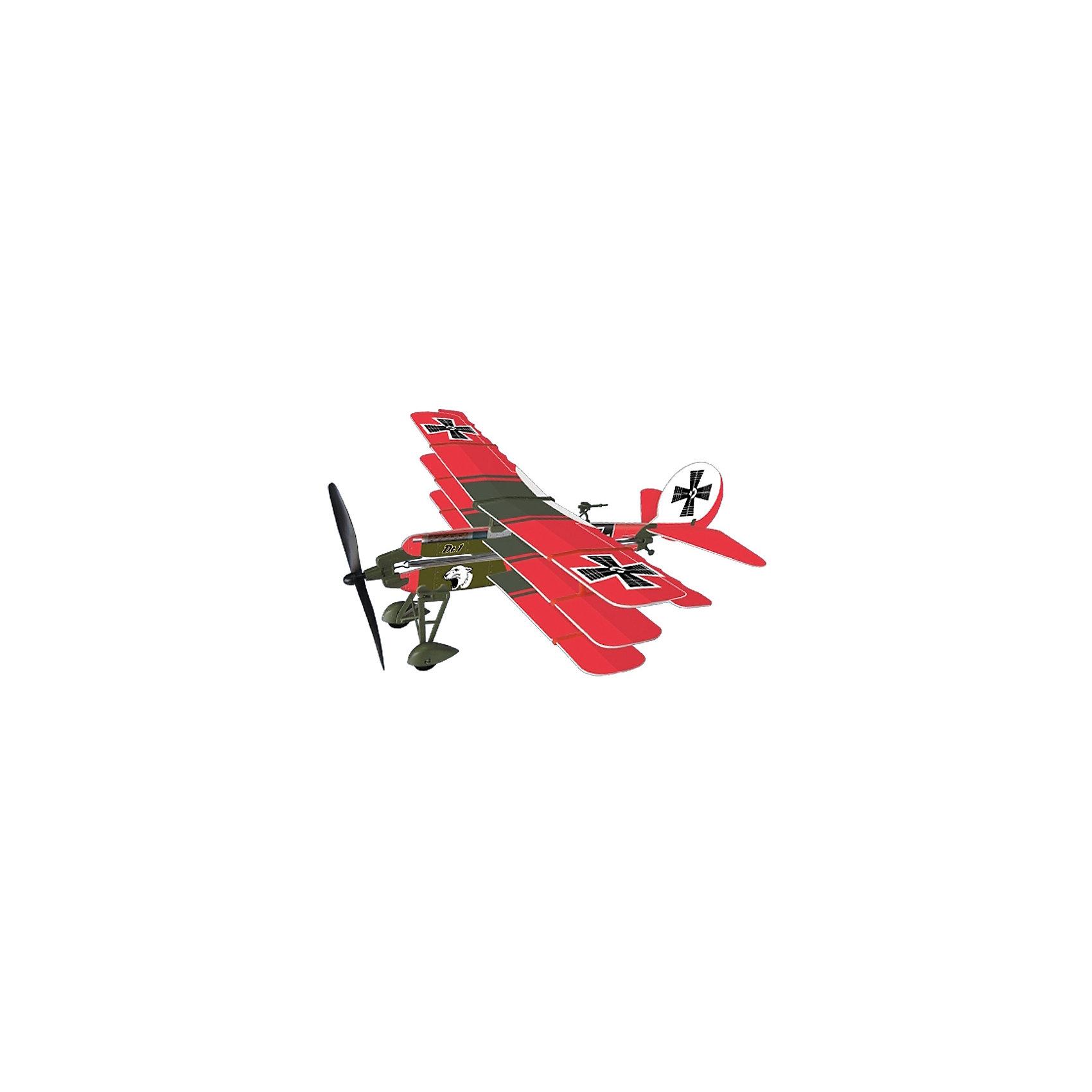 Самолет с резиномотором History Plane Dr.1 Airplane, LYONAEECЛюбой мальчишка придет в восторг от самолета History Plane Dr.1 Airplane от LYONAEEC! Легкую и изящную модель самолета катапультного типа удобно носить с собой. С его помощью можно сделать прогулки еще более увлекательными. Набор позволяет собрать реалистичную модель самолета и запустить его в воздух. Для этого не требуется клея или специальных инструментов. Запустить его можно ручным броском или специальной скруткой пропеллера. Самолет летит очень далеко и красиво планирует. С History Plane Dr.1 Airplane интересно играть даже компанией! Ведь самолет в зависимости от угла запуска и скорости может лететь далеко, а затем самостоятельно приземляться. Решайте, кто лучший пилот и оттачивайте навыки пилотирования с History Plane Dr.1 Airplane. Мальчишкам очень понравится играть с самолетом, который они соберут сами, используя несложную инструкцию.<br><br>Дополнительная информация:<br><br>- В комплекте: детали самолета, инструкция;<br>- Материал: пластик;<br>- Яркое оформление;<br>- Длина самолета: 41,2 см;<br>- Размах крыльев: 43,7 см;<br>- Размер упаковки: 42,5 х 17,5 х 35 см;<br>- Вес: 73 г<br><br>Самолет с резиномотором History Plane Dr.1 Airplane, LYONAEEC  можно купить в нашем интернет-магазине.<br><br>Ширина мм: 425<br>Глубина мм: 175<br>Высота мм: 350<br>Вес г: 73<br>Возраст от месяцев: 96<br>Возраст до месяцев: 168<br>Пол: Мужской<br>Возраст: Детский<br>SKU: 4094275