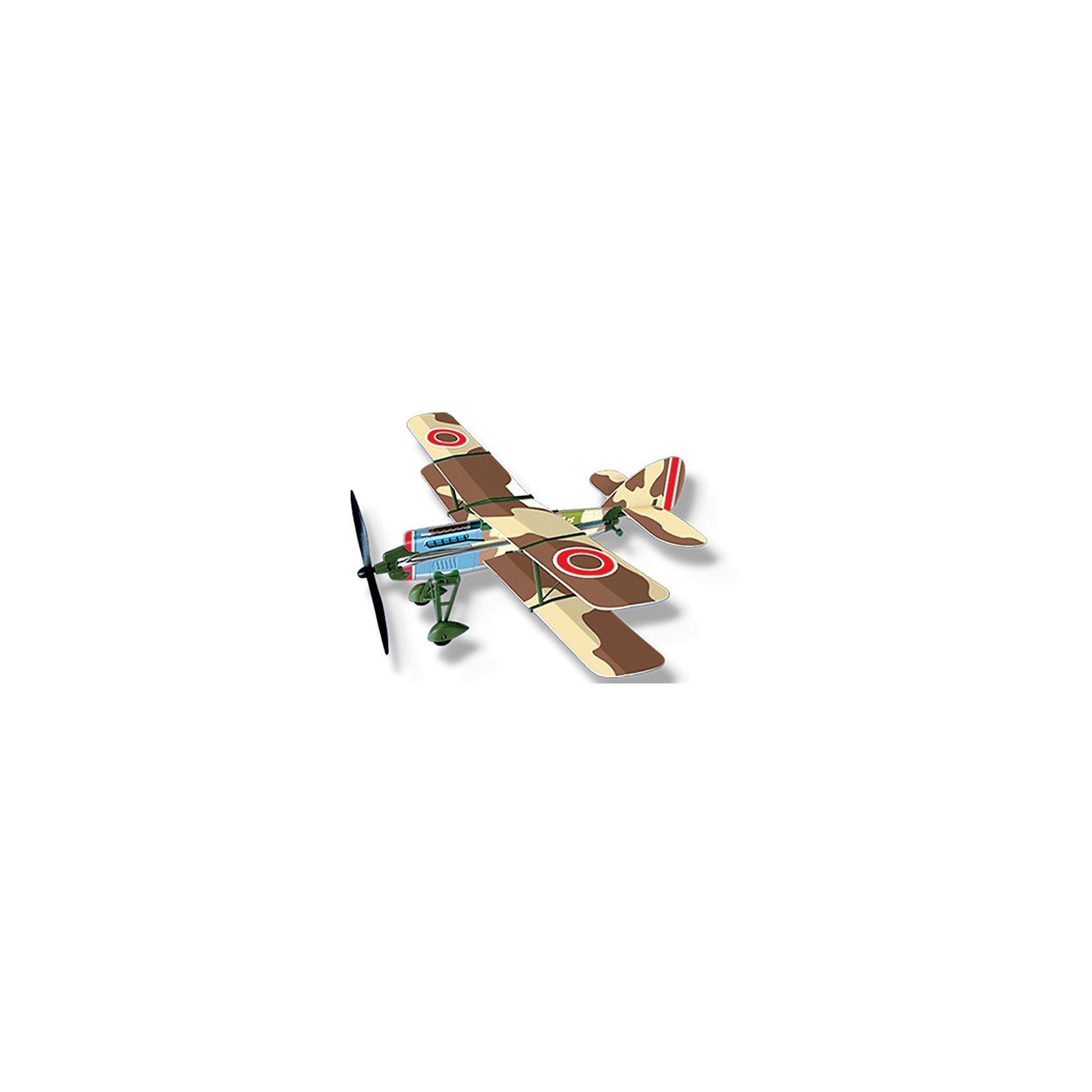 Самолет с резиномотором History Plane F.2B Airplane, LYONAEECСамолёты и вертолёты<br>Любой мальчишка придет в восторг от самолета History Plane F.2B Airplane от LYONAEEC! Легкую и изящную модель биплана катапультного типа удобно носить с собой. С его помощью можно сделать прогулки еще более увлекательными. Набор позволяет собрать реалистичную модель одномоторного двухместного биплана и запустить его в воздух. Для этого не требуется клея или специальных инструментов. Запустить его можно ручным броском или специальной скруткой пропеллера. Самолет летит очень далеко и красиво планирует. С History Plane F.2B Airplane интересно играть даже компанией! Ведь самолет в зависимости от угла запуска и скорости самолет может лететь далеко, а затем самостоятельно приземляться. Решайте, кто лучший пилот и оттачивайте навыки пилотирования с History Plane F.2B Airplane. Мальчишкам очень понравится играть с самолетом, который они соберут сами, используя несложную инструкцию.<br><br>Дополнительная информация:<br><br>- В комплекте: детали самолета, инструкция;<br>- Материал: пластик;<br>- Яркое оформление;<br>- Длина самолета: 45,3 см;<br>- Размах крыльев: 42,2 см;<br>- Размер упаковки: 42,5 х 17,5 х 35 см;<br>- Вес: 73 г<br><br>Самолет с резиномотором History Plane F.2B Airplane, LYONAEEC  можно купить в нашем интернет-магазине.<br><br>Ширина мм: 425<br>Глубина мм: 175<br>Высота мм: 350<br>Вес г: 73<br>Возраст от месяцев: 96<br>Возраст до месяцев: 168<br>Пол: Мужской<br>Возраст: Детский<br>SKU: 4094276
