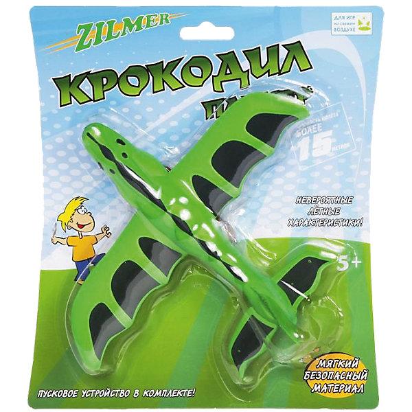 Планер Крокодил, с пусковым устройством, ZilmerСамолёты и вертолёты<br>Любой мальчишка придет в восторг от планера Крокодил от Zilmer! Малыш обязательно захочет взять этот забавный самолет в виде крокодильчика с собой на прогулку. Планер выполнен из мягкого материала, поэтому играть с ним безопасно и дома. С его помощью можно сделать прогулки еще более увлекательными. В наборе с планером удобное пусковое устройство, работающее по принципу рогатки. С ним справится даже малыш: зацепите резинку за крючок на планере, натяните и отпустите планер. И он взлетит ввысь и будет радовать Вас своим долгим и красивым полетом. Крокодил летит очень далеко и красиво планирует. Планер Крокодил станет хитом на детской площадке: ведь всем ребятам хочется выяснить, кто может запустить планер дальше и красивее всех. Решайте, кто лучший пилот и оттачивайте навыки пилотирования с планером Крокодил от Zilmer!<br><br>Дополнительная информация:<br><br>- В комплекте: планер, пусковое устройство;<br>- Мягкий материал обеспечивает безопасность;<br>- Материал: поролон/eva;<br>- Яркое оформление;<br>- Размер упаковки: 23 х 20 х 5 см;<br>- Вес: 24 г<br><br>Планер Крокодил, с пусковым устройством, Zilmer  можно купить в нашем интернет-магазине.<br>Ширина мм: 230; Глубина мм: 200; Высота мм: 550; Вес г: 24; Возраст от месяцев: 36; Возраст до месяцев: 96; Пол: Мужской; Возраст: Детский; SKU: 4094278;
