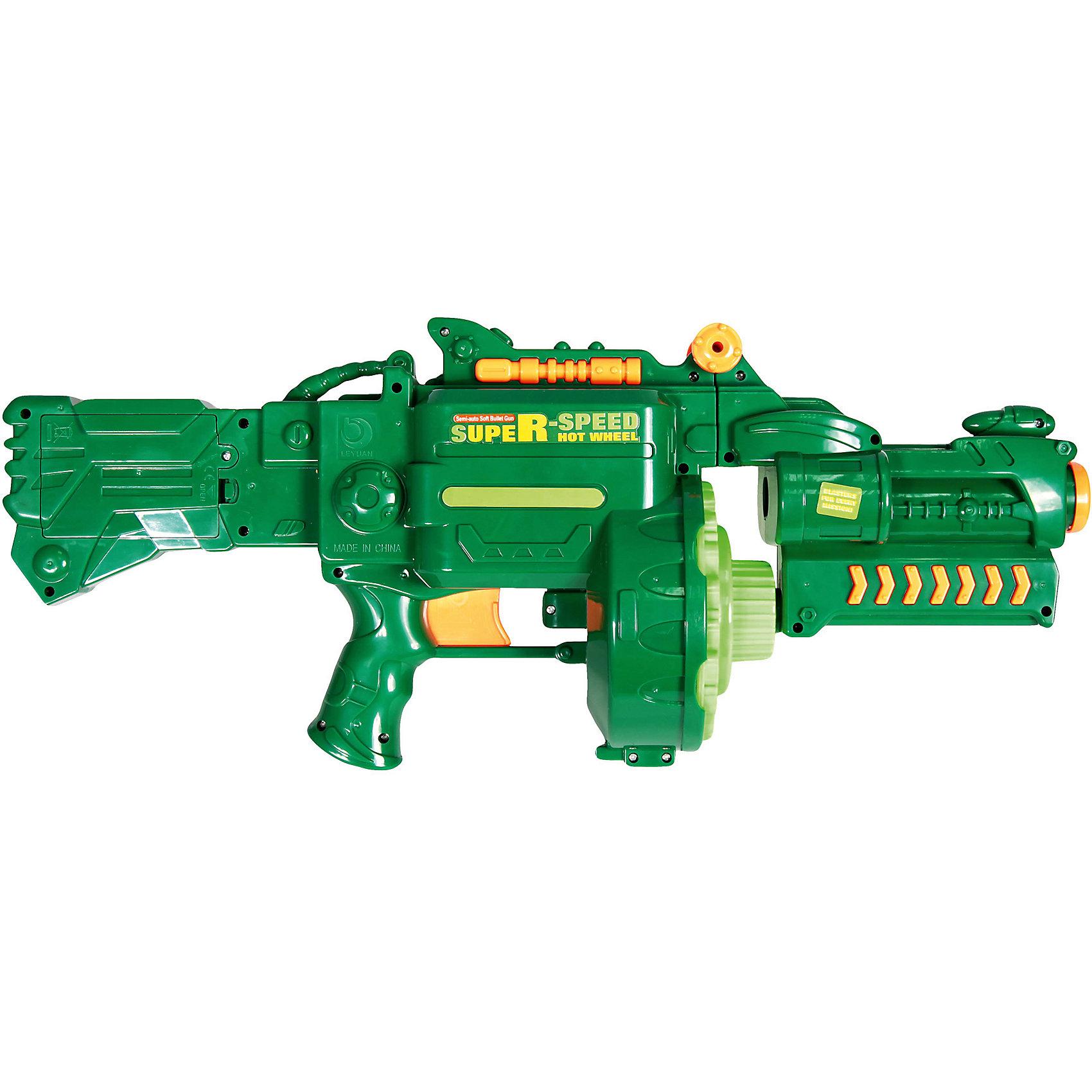 Автомат с пулями на присосках, Mioshi  ArmyАвтомат от  Mioshi  Army - мечта любого мальчишки! Отстреливаться из такого скорострельного орудия одно удовольствие! Красивый и реалистичный, он как будто прямиком из фильма о сражениях. Как и положено современному оружию автомат Mioshi  Army  отлично лежит в руке. Вы сможете перезарядить его в считанные минуты, ведь в пылу борьбы дорога каждая секунда! Стреляйте настолько быстро, насколько сможете! Противник не уйдет, ведь у автомата отличная дальность стрельбы. Мягкие стрелы оснащены присосками, что позволяет им прилипать в место попадания, так легче считать очки в соревнованиях на меткость. Тренируй стрелковые навыки: нарисуй мишень и устраивай настоящие соревнования.<br><br>Дополнительная информация: <br><br>- В комплекте: автомат, 40 пуль: 20 с присосками+ 20 стандартных;<br>- Высокая дальность стрельбы;<br>- Выполнен из высококачественного пластика;<br>- Быстро перезаряжается;<br>- Удобная форма;<br>- Размер упаковки: 53 х 15 х 23 см<br>- Вес: 1,8 кг<br><br>Автомат с пулями на присосках, Mioshi  Army  можно купить в нашем интернет-магазине.<br><br>Ширина мм: 530<br>Глубина мм: 150<br>Высота мм: 230<br>Вес г: 1867<br>Возраст от месяцев: 36<br>Возраст до месяцев: 72<br>Пол: Мужской<br>Возраст: Детский<br>SKU: 4094281