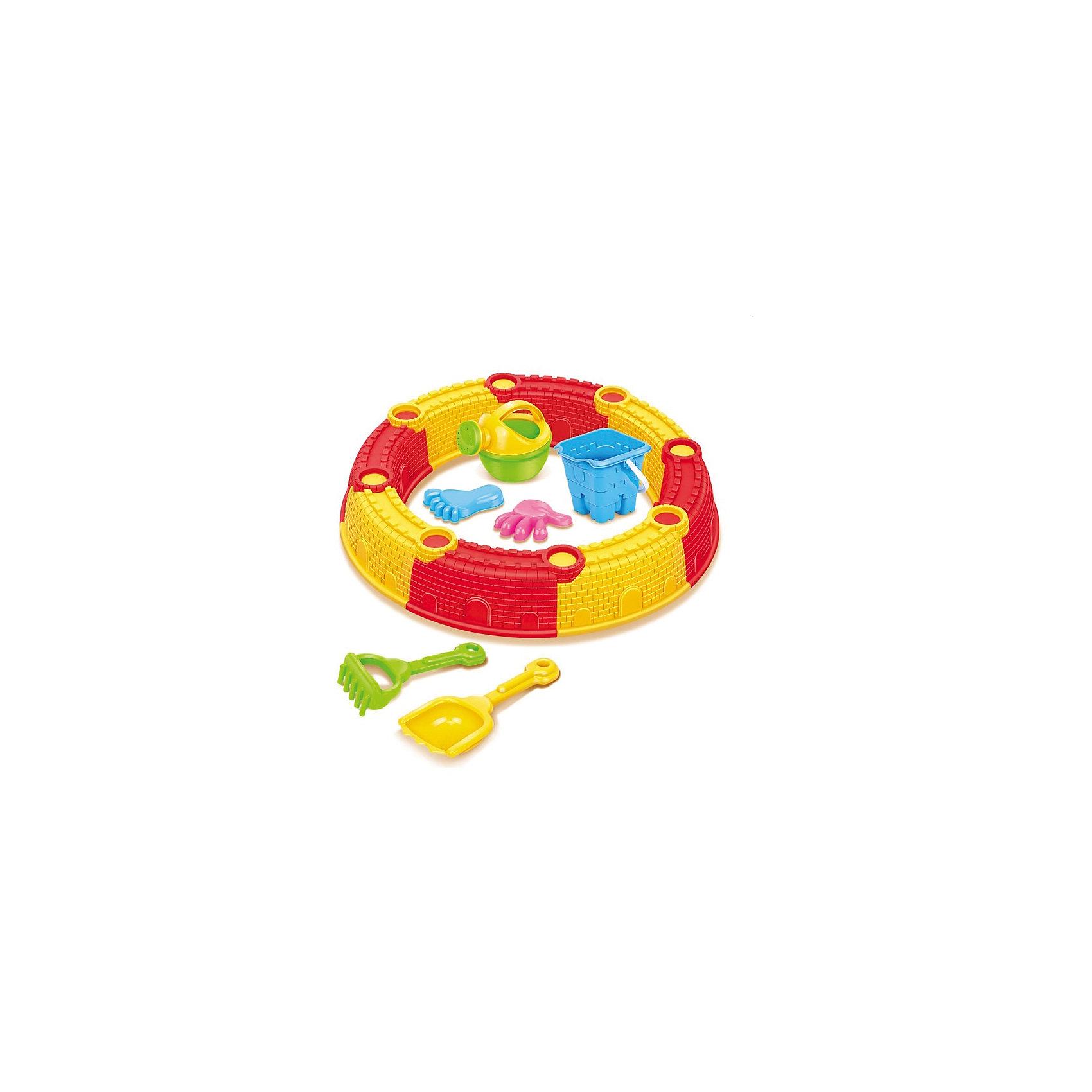 Песочница сборная, круглая, с аксессуарами, Hualian Toys