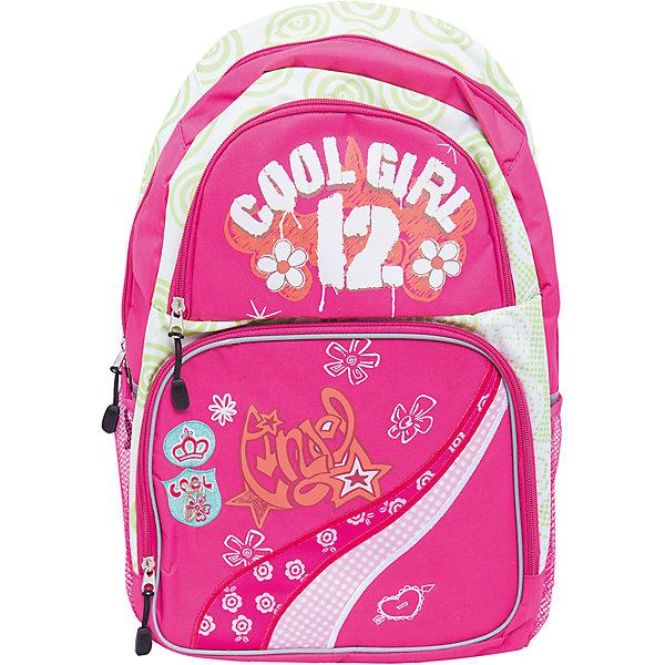 Школьный рюкзак Cool GirlРюкзаки<br>Рюкзак Cool Girl, 45х31х13,5 см - этот яркий рюкзак вместит все, что нужно для успешного учебного дня.<br>Рюкзак Cool Girl – это удобный рюкзак для повседневного использования, который обязательно понравится школьнице. Мягкая плотная спинка и регулируемые наплечные лямки предназначены для длительного и комфортного ношения рюкзака. У рюкзака имеется 1 вместительное отделение, 2 боковых сетчатых кармана и 2 передних кармана, закрывающиеся на застежки-молнии. Для переноски рюкзака в руках предусмотрена ручка.<br><br>Дополнительная информация:<br><br>- Материал: нейлон<br>- Размер: 45х31х13,5 см.<br>- Вес: 480 гр.<br><br>Рюкзак Cool Girl, Рюкзак Cool Girl, 45х31х13,5 см можно купить в нашем интернет-магазине.<br><br>Ширина мм: 135<br>Глубина мм: 450<br>Высота мм: 310<br>Вес г: 480<br>Возраст от месяцев: 72<br>Возраст до месяцев: 144<br>Пол: Женский<br>Возраст: Детский<br>SKU: 4098791