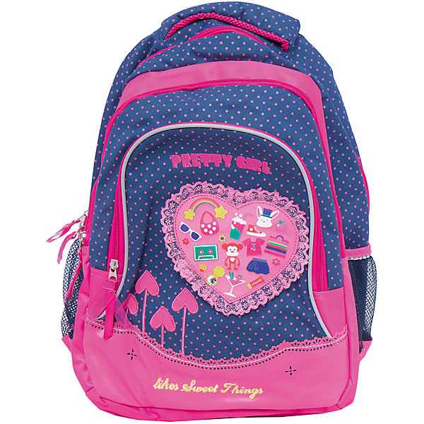 Школьный рюкзак с уплотненной спинкой и светоотражателямиШкольные рюкзаки<br>Школьный рюкзак с уплотненной спинкой и светоотражателями, Centrum (Центрум)<br><br>Характеристики:<br><br>• мягкие широкие лямки <br>• уплотненная спинка<br>• одно большое отделение, внешний карман, 2 боковых кармана<br>• светоотражатели<br>• материал: полиэстер 840 ден<br>• размер: 45,5х33х15 см<br>• вес: 545 грамм<br><br>Стильный рюкзак Centrum станет важным помощником ребенку в учебном году. Рюкзак очень удобен благодаря уплотненное спинке и широким регулируемым лямкам. Модель имеет одно вместительное отделение, большой внешний карман и два небольших сетчатых боковых кармана. Кроме того, рюкзак дополнен светоотражателями, которые уберегут ребенка от несчастных случаев на дороге в темное время суток.<br><br>Школьный рюкзак с уплотненной спинкой и светоотражателями, Centrum (Центрум) вы можете купить в нашем интернет-магазине.<br>Ширина мм: 150; Глубина мм: 330; Высота мм: 455; Вес г: 630; Возраст от месяцев: 72; Возраст до месяцев: 120; Пол: Женский; Возраст: Детский; SKU: 4098802;