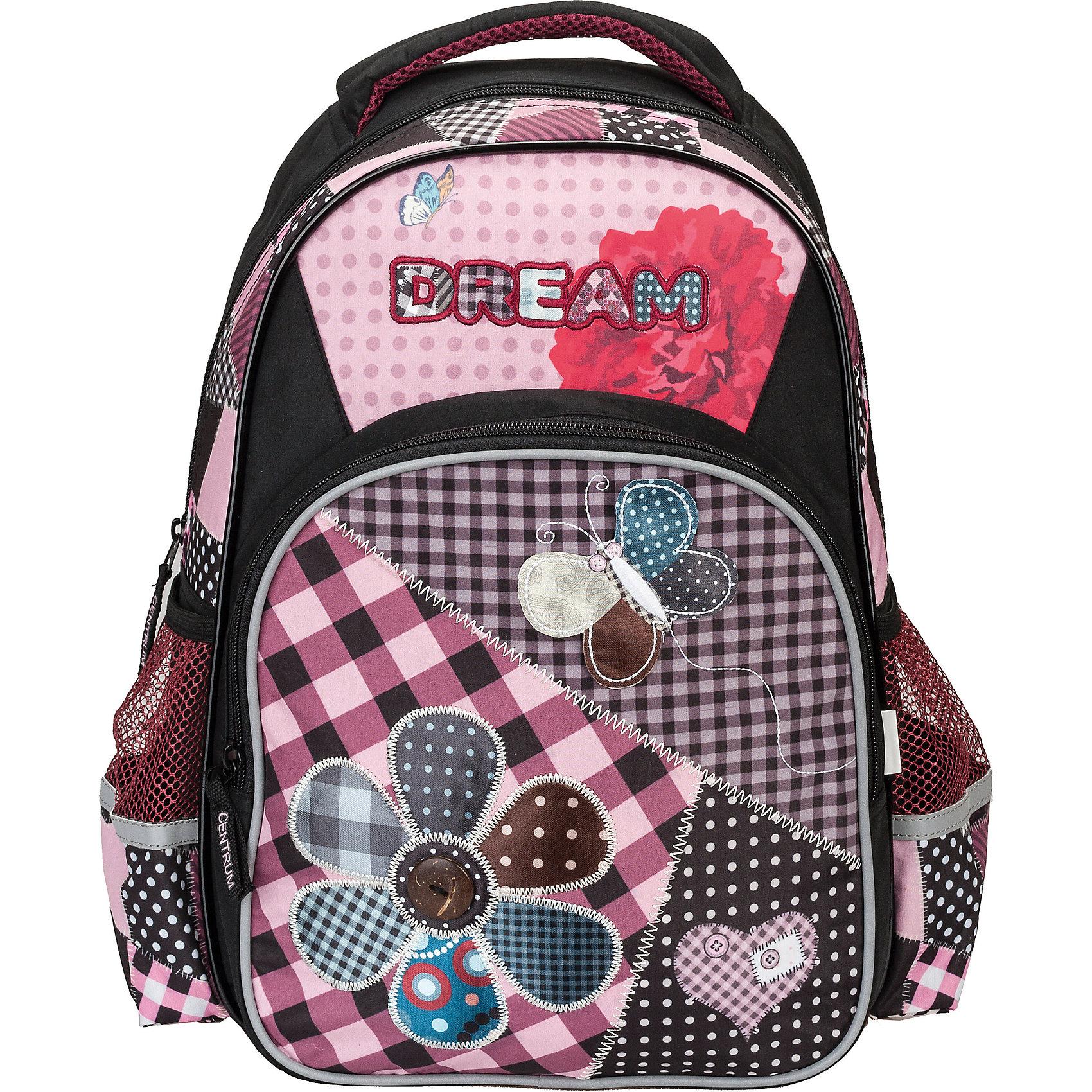 Школьный рюкзак с уплотненной спинкой и светоотражателямиРюкзак с уплотненной спинкой и светоотражателями, 40,5х30,5х13 см - этот яркий рюкзак вместит все, что нужно для успешного учебного дня.<br>Удобный рюкзак для повседневного использования выполнен из прочной долговечной ткани. Уплотненная спинка рюкзака не позволит ребенку устать. Широкие, мягкие, регулируемые лямки помогают равномерно распределить нагрузку по всей спине. Светоотражатели сделают Вашего ребенка заметным на дороге в темное время суток. У рюкзака имеется одно вместительное отделение, два боковых кармана и один внешний большой карман, закрывающийся на застежку-молнию. Для переноски рюкзака в руках предусмотрена ручка-петля.<br><br>Дополнительная информация:<br><br>- Материал: полиэстер<br>- Размер: 40,5х30,5х13 см.<br>- Вес: 570 гр.<br><br>Рюкзак с уплотненной спинкой и светоотражателями, 40,5х30,5х13 см можно купить в нашем интернет-магазине.<br><br>Ширина мм: 130<br>Глубина мм: 305<br>Высота мм: 405<br>Вес г: 570<br>Возраст от месяцев: 36<br>Возраст до месяцев: 120<br>Пол: Женский<br>Возраст: Детский<br>SKU: 4098805