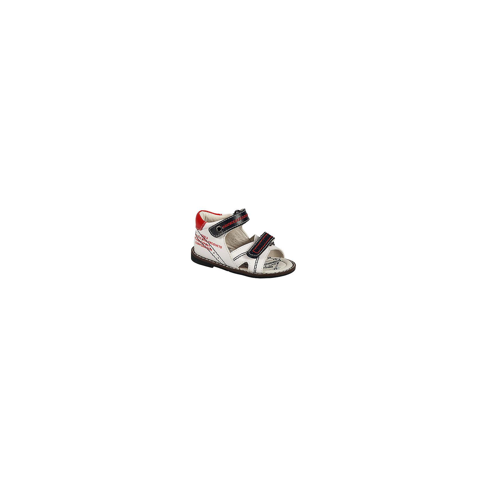 Сандалии для мальчика ЗебраСандалии для мальчика от известного российского бренда детской обуви Зебра.<br>Удобные легкие сандалии – это комфортная и практичная обувь. Они просто застегиваются благодаря липучке, отлично прилегают к ноге. Сделаны из натуральной кожи.<br>Отличительные особенности модели:<br>- модный дизайн;<br>- цвет белый, с черными и красными элементами;<br>- комфортная колодка;<br>- устойчивая износостойкая подошва;<br>- формованный жесткий задник;<br>- удобные застежки-липучки;<br>- мягкий верхний кант для предотвращения потертостей;<br>- материал – натуральная кожа.<br>Дополнительная информация:<br>- Температурный режим: от + 15° С  до + 35° С.<br>- Состав:<br>материал верха: натуральная кожа<br>материал подкладки: натуральная кожа<br>подошва: ТЭП.<br>Сандалии для мальчика от бренда Зебра можно купить в нашем магазине.<br><br>Ширина мм: 219<br>Глубина мм: 154<br>Высота мм: 121<br>Вес г: 343<br>Цвет: белый<br>Возраст от месяцев: 15<br>Возраст до месяцев: 18<br>Пол: Мужской<br>Возраст: Детский<br>Размер: 22,18,19,20,21,23<br>SKU: 4101386