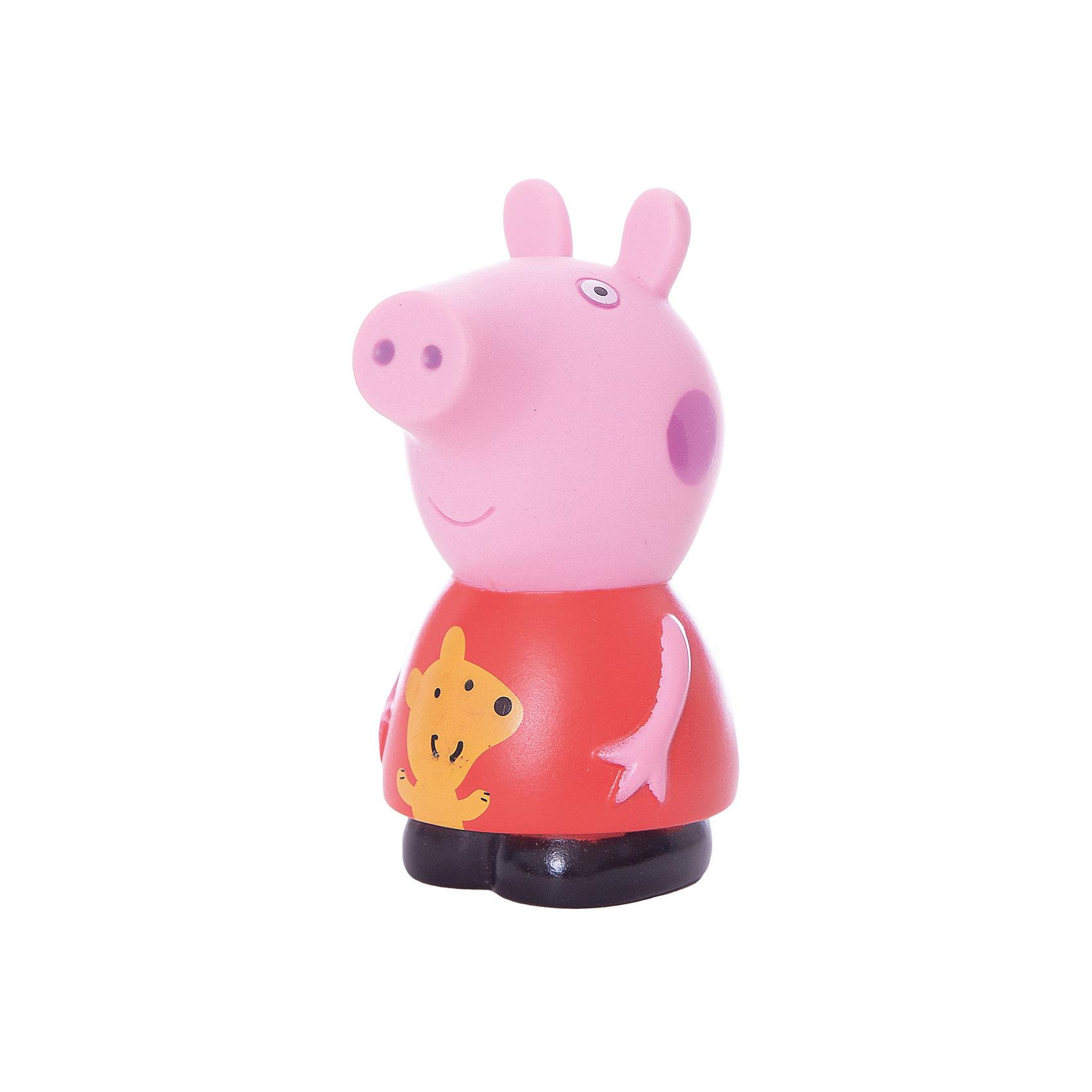 Игровой набор Пеппа 10 см, Свинка ПеппаПопулярные игрушки<br>Детишки обожают мультфильм «Свинка Пеппа» (Peppa Pig), поэтому игровой набор «Пеппа» (10 см) с забавным медвежонком на платьице придется по душе любому из них. С резиновой фигуркой малыш может увлеченно играть и дома, и на улице, и даже в ванне. Ее яркая окраска улучшает цветовосприятие малютки, а приятная на ощупь поверхность развивает тактильные ощущения. Товар сертифицирован. Срок годности не ограничен.<br><br>Игровой набор Пеппа 10 см, Свинка Пеппа (Peppa Pig)можно купить в нашем магазине.<br><br>Ширина мм: 60<br>Глубина мм: 53<br>Высота мм: 100<br>Вес г: 46<br>Возраст от месяцев: 36<br>Возраст до месяцев: 2147483647<br>Пол: Унисекс<br>Возраст: Детский<br>SKU: 4102301
