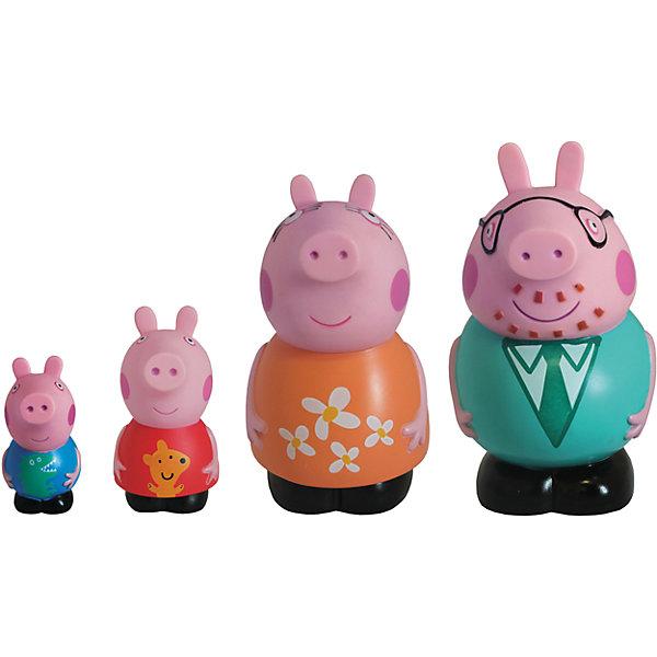 Игровой набор Семья Пеппы, Свинка ПеппаИгровые наборы с фигурками<br>Детишки обожают мультфильм «Свинка Пеппа» (Peppa Pig), поэтому игровой набор «Семья Пеппы»  «Peppa Pig» придется по душе любому из них. С резиновыми фигурками малыш может увлеченно играть и дома, и на улице, и даже в ванне. Их яркая окраска улучшает цветовосприятие малютки, а приятная на ощупь поверхность развивает тактильные ощущения. <br>Обыгрывая взаимоотношения Пеппы с ее родителями и братиком, малыши приобщаются к семейным ценностям, обмениваются своим опытом и развивают фантазию.<br><br>Дополнительная информация:<br><br>В наборе 4 фигурки из пластизоля: Джордж (8 см), Пеппа (10 см), мама (12 см), папа (14 см).<br><br>Игровой набор Семья Пеппы, Свинка Пеппа (Peppa Pig)можно купить в нашем магазине.<br>Ширина мм: 120; Глубина мм: 95; Высота мм: 150; Вес г: 253; Возраст от месяцев: 36; Возраст до месяцев: 72; Пол: Унисекс; Возраст: Детский; SKU: 4102302;