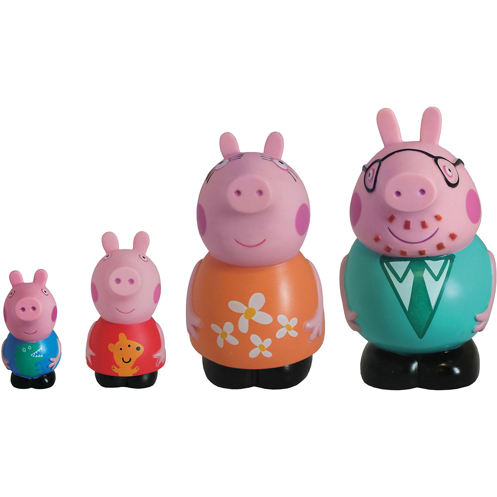 Игровой набор Семья Пеппы, Свинка ПеппаСвинка Пеппа<br>Детишки обожают мультфильм «Свинка Пеппа» (Peppa Pig), поэтому игровой набор «Семья Пеппы»  «Peppa Pig» придется по душе любому из них. С резиновыми фигурками малыш может увлеченно играть и дома, и на улице, и даже в ванне. Их яркая окраска улучшает цветовосприятие малютки, а приятная на ощупь поверхность развивает тактильные ощущения. <br>Обыгрывая взаимоотношения Пеппы с ее родителями и братиком, малыши приобщаются к семейным ценностям, обмениваются своим опытом и развивают фантазию.&#13;<br><br>Дополнительная информация:<br><br>В наборе 4 фигурки из пластизоля: Джордж (8 см), Пеппа (10 см), мама (12 см), папа (14 см).<br><br>Игровой набор Семья Пеппы, Свинка Пеппа (Peppa Pig)можно купить в нашем магазине.<br><br>Ширина мм: 120<br>Глубина мм: 95<br>Высота мм: 150<br>Вес г: 253<br>Возраст от месяцев: 36<br>Возраст до месяцев: 2147483647<br>Пол: Унисекс<br>Возраст: Детский<br>SKU: 4102302