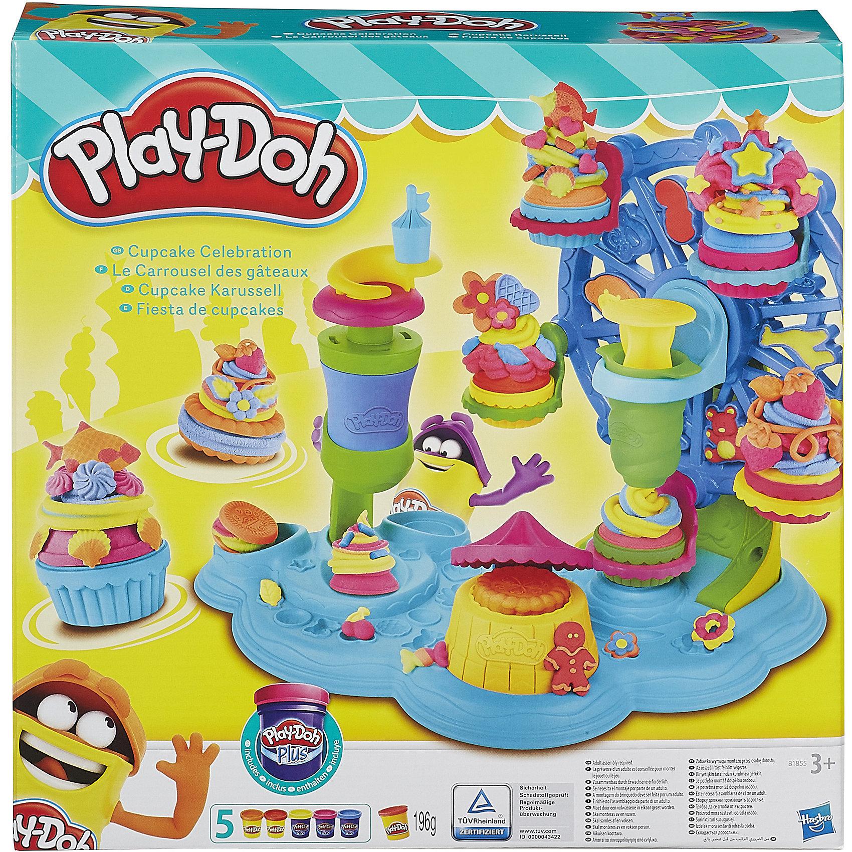 Hasbro Набор Карусель сладостей, Play-Doh hasbro play doh b5517 игровой набор из 4 баночек в ассортименте обновлённый