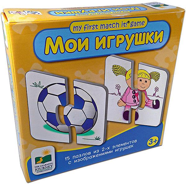 Набор пазлов Мои игрушки,  Learning JourneyПазлы для малышей<br>Набор пазлов Мои игрушки, The Learning Journey - красочная развивающая игра-пазл для самых маленьких. В набор входит 15 мини-пазлов, каждый из которых состоит из двух деталей-половинок. Малышу нужно правильно совместить обе половинки, чтобы получилось целое изображение игрушки или куклы. Элементы пазла имеют крупную, округлую форму, удобную для детских ручек, выполнены из плотного качественного картона. Игра способствует развитию логики и аналитических способностей, учит сравнивать и сопоставлять разные формы и цвета.<br><br>Дополнительная информация:<br><br>- В комплекте: 15 пазлов из 2-х элементов.<br>- Материал: картон. <br>- Размер упаковки: 21,6 х 6 х 21,3 см.<br>- Вес: 220 гр.<br> <br>Набор пазлов Мои игрушки, The Learning Journey, можно купить в нашем интернет-магазине.<br><br>Ширина мм: 216<br>Глубина мм: 60<br>Высота мм: 213<br>Вес г: 450<br>Возраст от месяцев: 36<br>Возраст до месяцев: 84<br>Пол: Унисекс<br>Возраст: Детский<br>Количество деталей: 2<br>SKU: 4108963
