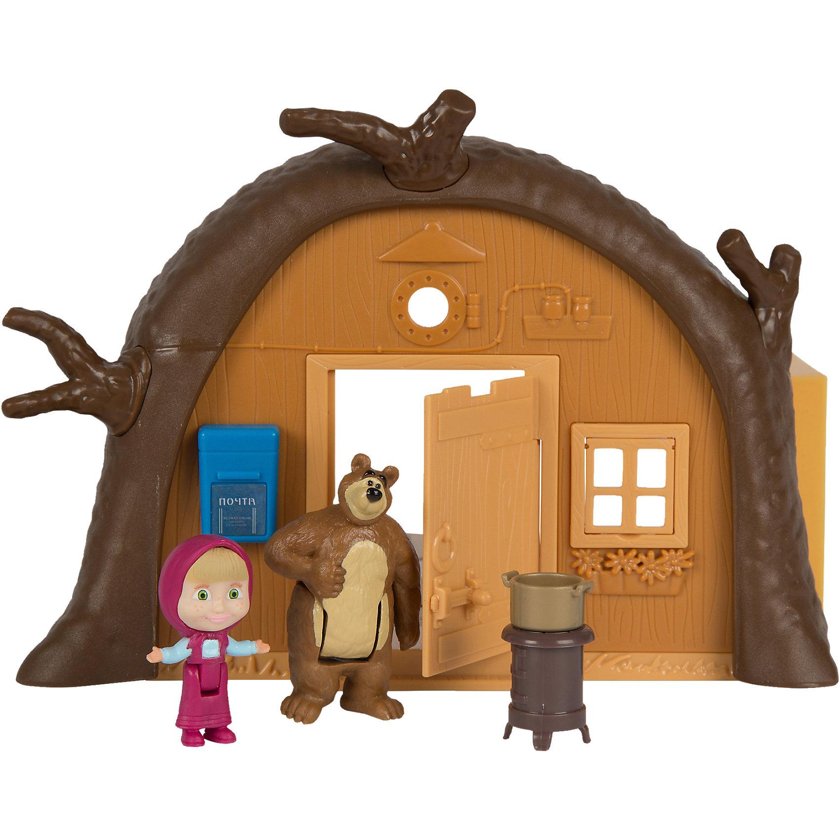 Домик Миши, Маша и Медведь, SimbaПопулярные игрушки<br>Домик Миши, Маша и Медведь, Simba (Симба) – это прекрасный игровой набор по мотивам мультсериала Маша и медведь.<br>Игровой набор Домик Миши позволит ребенку воссоздать игровые ситуации из любимого мультфильма Маша и Медведь. Внешне домик выглядит как в мультфильме. Одна стена домика не двигается. В ней есть дверь и окошко. Дверь домика открывается. На стене висит почтовый ящик. В другой стене окон нет, но она может опускаться, становясь, полом и открывая внутреннюю комнату Миши. Внутри есть телевизор, самовар, холодильник, кресло, столик, печка, сундук и другие аксессуары. В комплект входят две фигурки. Миша неподвижный, не может менять позу, а Маша умеет наклоняться и садиться на стул. Набор удобно брать с собой в дорогу или в гости, благодаря сборной конструкции. В сложенном виде домик представляет собой футляр, в котором хранятся аксессуары для игры. Домик Миши с аксессуарами перенесет ребенка в мир фантазий, где живут любимые герои. Играть с ними весело и интересно.<br><br>Дополнительная информация:<br><br>- В наборе: кукла Маша; домик; фигурка Миши; печь; самовар; столик; телевизор; кресло; посуда; кастрюля; сундучок; холодильник; хлебница<br>- Высота куклы: 12 см.<br>- Материал: пластик<br>- Размер упаковки: 35х10х20 см.<br>- Вес: 500 гр.<br><br>Домик Миши, Маша и Медведь, Simba (Симба) можно купить в нашем интернет-магазине.<br><br>Ширина мм: 359<br>Глубина мм: 205<br>Высота мм: 104<br>Вес г: 651<br>Возраст от месяцев: 36<br>Возраст до месяцев: 72<br>Пол: Женский<br>Возраст: Детский<br>SKU: 4108994