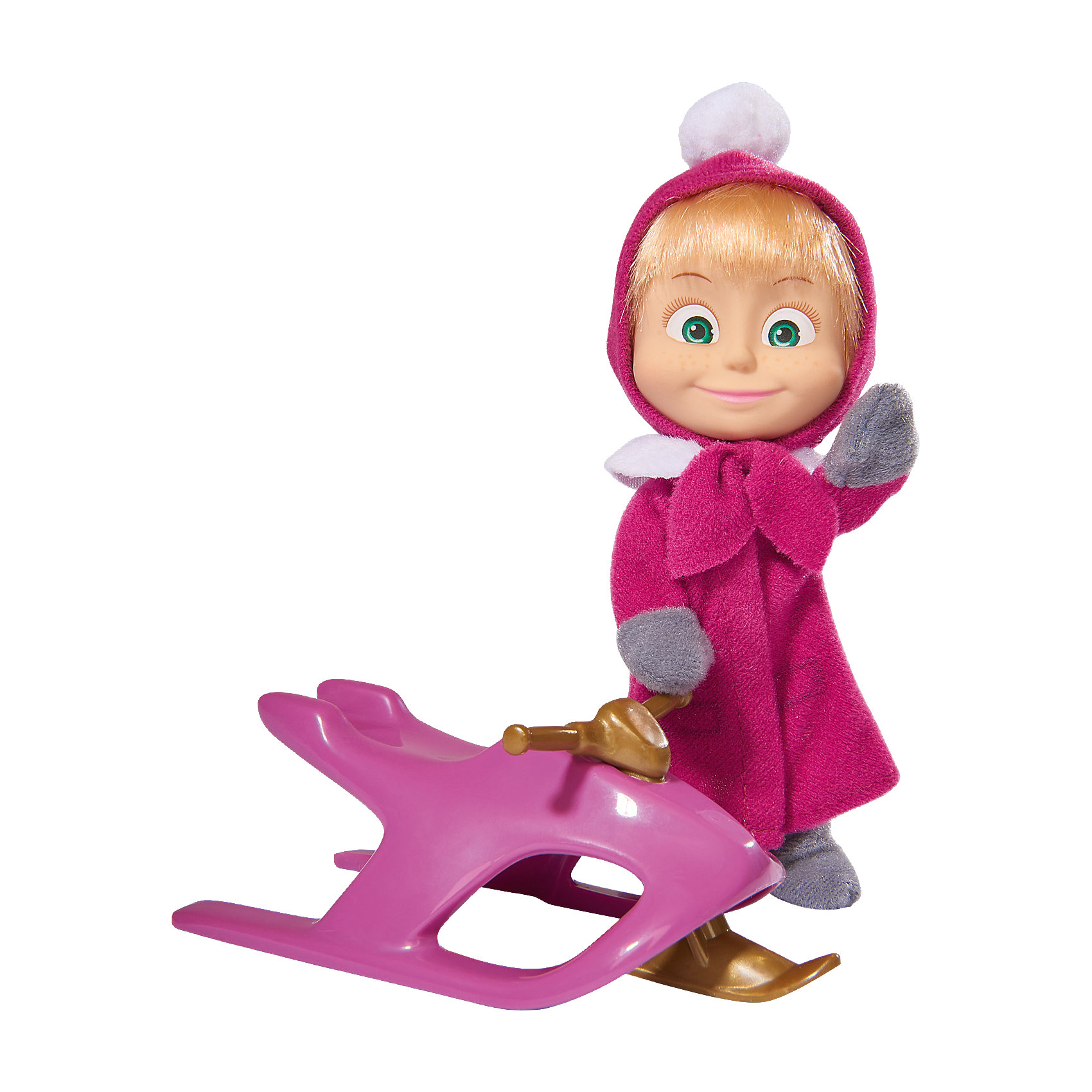 Simba Кукла Маша со снегокатом, Маша и Медведь, Simba simba кукла маша с кроваткой маша и медведь simba