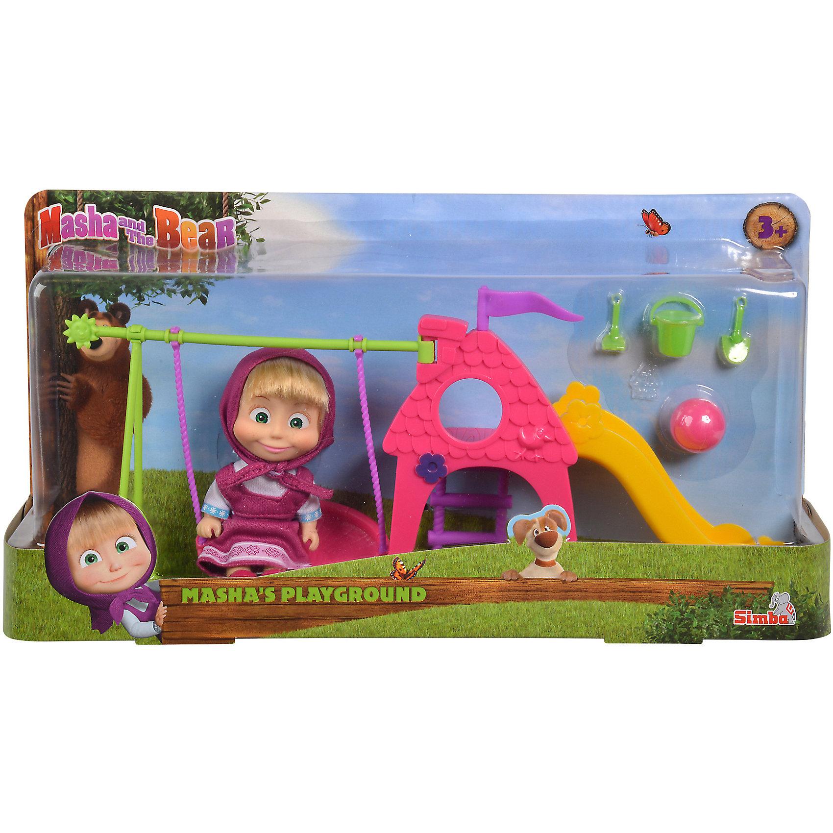 Кукла Маша с площадкой, Маша и Медведь, Simba от myToys