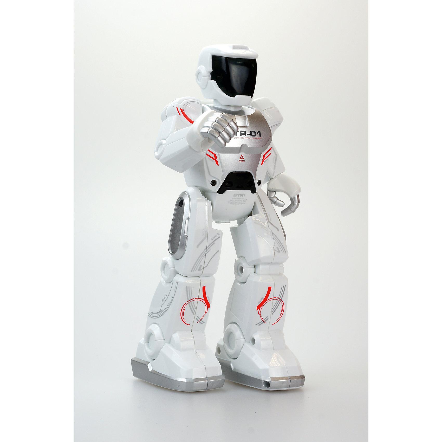 Программируемый робот Полицейский, SilverlitРоботы<br>Программируемый робот Полицейский, Silverlit - игрушка нового поколения, рассчитанная на управление с компьютера, смартфона или планшета. Робот управляется с помощью встроенного Bluetooth. С помощью встроенного инфракрасного датчика полицейский может взаимодействовать с другими роботами на расстоянии до 8 метров и распознавать препятствия на своем пути. Если у вас нет планшета или смартфона, игрушка может двигаться без них, выполняя запрограммированные движения - это очень удобно, если с роботом играют маленькие дети. Робот имеет функцию «Шпион», благодаря которой будет проходить запись разговоров.<br><br>Дополнительная информация:<br><br>- Комплектация: робот, аккумулятор, USB провод для зарядки. <br>- Материал: пластик, металл.<br>- Размер: 24 см.<br>- Элемент питания: аккумулятор (в комплекте).<br>- Время зарядки аккумулятора: 1 час.<br>- Время непрерывной работы (при полной зарядке аккумулятора): 30 мин.<br>- Управление: планшет, компьютер, смартфон (IOS , Android).<br>- Голова, руки, пальцы, ноги подвижные.<br>- ИК датчик для распознавания препятствий и других роботов.<br>- Функция Шпион.<br><br>Программируемого робота Полицейский, Silverlit (Сильверлит) можно купить в нашем магазине.<br><br>Ширина мм: 210<br>Глубина мм: 90<br>Высота мм: 300<br>Вес г: 700<br>Возраст от месяцев: 36<br>Возраст до месяцев: 84<br>Пол: Мужской<br>Возраст: Детский<br>SKU: 4109263