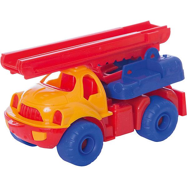 Пожарная машина Малыш, НордпластМашинки<br>Пожарная машина Малыш, Нордпласт – это яркая пластмассовая машина, которой интересно будет играть вашему мальчику.<br>Пожарная машина Малыш от компании Нордпласт прекрасно подойдет для игр, как в помещении, так и на улице. Платформа у машины вращается вокруг своей оси, пожарная лестница, установленная на платформе, поднимается, опускается и раздвигается вверх на высоту до 40 см. Ребенок получит большое удовольствие, управляя ей вручную. У машины большие колеса, малышу будет удобно ее катать. А яркая расцветка поможет ребенку не потерять машину из виду на прогулке. Игры с этой машиной помогут Вашему ребенку развить координацию движений, ловкость, моторику и воображение. Игрушка изготовлена из высококачественной пищевой пластмассы, без трещин и заусениц, поэтому во время эксплуатации выдержит многие детские шалости. Она покрыта нетоксичной краской, не облупливающейся и не выгорающей на солнце. Товар соответствует требованиям стандарта для детских игрушек и имеет сертификат качества.<br><br>Дополнительная информация:<br><br>- Материал: высококачественная пластмасса<br>- Размер: 18,5 х 9,5 х 10 см.<br>- Вес: 170 гр.<br><br>Пожарную машину Малыш, Нордпласт можно купить в нашем интернет-магазине.<br>Ширина мм: 185; Глубина мм: 95; Высота мм: 100; Вес г: 170; Возраст от месяцев: 36; Возраст до месяцев: 72; Пол: Мужской; Возраст: Детский; SKU: 4112732;