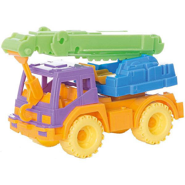 Кран Кама, НордпластМашинки<br>Кран Кама, Нордпласт – это яркая пластмассовая машина, которой интересно будет играть вашему мальчику.<br>Игрушечный кран строительный Кама от компании Нордпласт прекрасно подойдет для игр, как в помещении, так и на улице. У крана подвижная платформа и выдвигающаяся стрела с крюком, ребенок сможет играть в строителя, подцеплять и перевозить грузы. В кабине крана есть сиденья, и в нее можно посадить маленькие фигурки водителя и пассажира. Две пары крепких рефренных колес обеспечивается отличное сцепление с поверхностью. Есть крепление для транспортировки на веревочке. Яркая расцветка поможет ребенку не потерять машину из виду на прогулке. Игрушка изготовлена из высококачественной пищевой пластмассы, без трещин и заусениц, поэтому во время эксплуатации выдержит многие детские шалости. Она покрыта нетоксичной краской, не облупливающейся и не выгорающей на солнце. Товар соответствует требованиям стандарта для детских игрушек и имеет сертификат качества.<br><br>Дополнительная информация:<br><br>- Материал: высококачественная пластмасса<br>- Размер: 11х19х8 см.<br>- Вес: 150 гр.<br><br>Кран Кама, Нордпласт можно купить в нашем интернет-магазине.<br><br>Ширина мм: 190<br>Глубина мм: 80<br>Высота мм: 110<br>Вес г: 150<br>Возраст от месяцев: 36<br>Возраст до месяцев: 72<br>Пол: Мужской<br>Возраст: Детский<br>SKU: 4112733