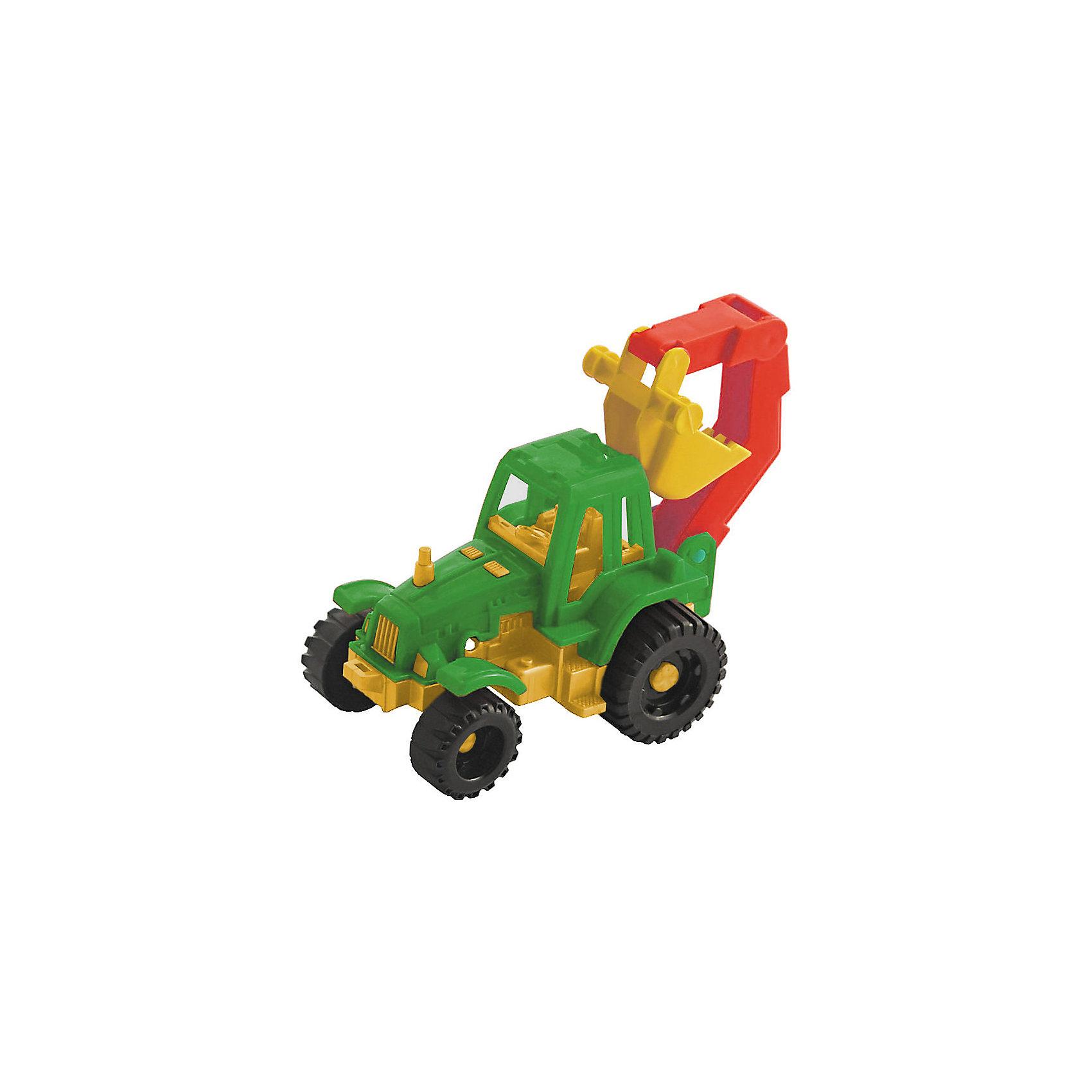 Нордпласт Трактор Ижора с ковшом, Нордпласт, в ассортименте машинки нордпласт трактор ижора с ковшом