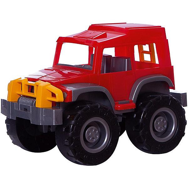 Джип Хаммер, НордпластМашинки<br>Джип Хаммер, Нордпласт – это яркая пластмассовая машина, которой интересно будет играть вашему мальчику.<br>Большой, яркий джип Хаммер от компании Нордпласт - прочный и очень надежный. Этот джип покорит ребенка с первой минуты! У джипа закрытая кабина, в которую можно посадить маленькие фигурки водителя и пассажира. С этой машиной можно придумать множество интересных игр. Малыш может играть с джипом, как дома, так и в песочнице, где можно устроить гоночный трек или барханы для ралли. Большие рельефные колеса преодолеют самые крутые спуски и подъемы. Игрушка изготовлена из высококачественной пищевой пластмассы, без трещин и заусениц, поэтому во время эксплуатации выдержит многие детские шалости. Она покрыта нетоксичной краской, не облупливающейся и не выгорающей на солнце. Товар соответствует требованиям стандарта для детских игрушек и имеет сертификат качества.<br><br>Дополнительная информация:<br><br>- Материал: высококачественная пластмасса<br>- Размер: 23,5х22,5х32,5 см.<br>- Вес: 770 гр.<br><br>Джип Хаммер, Нордпласт можно купить в нашем интернет-магазине.<br>Ширина мм: 325; Глубина мм: 225; Высота мм: 235; Вес г: 770; Возраст от месяцев: 36; Возраст до месяцев: 72; Пол: Мужской; Возраст: Детский; SKU: 4112745;