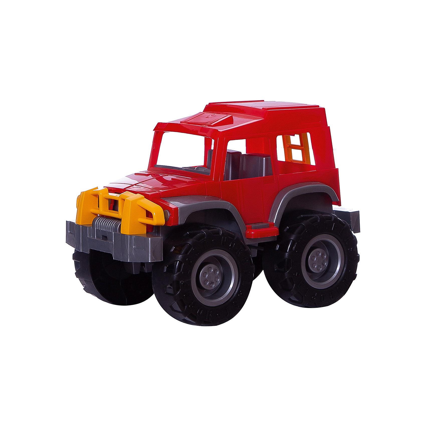 Джип Хаммер, НордпластМашинки<br>Джип Хаммер, Нордпласт – это яркая пластмассовая машина, которой интересно будет играть вашему мальчику.<br>Большой, яркий джип Хаммер от компании Нордпласт - прочный и очень надежный. Этот джип покорит ребенка с первой минуты! У джипа закрытая кабина, в которую можно посадить маленькие фигурки водителя и пассажира. С этой машиной можно придумать множество интересных игр. Малыш может играть с джипом, как дома, так и в песочнице, где можно устроить гоночный трек или барханы для ралли. Большие рельефные колеса преодолеют самые крутые спуски и подъемы. Игрушка изготовлена из высококачественной пищевой пластмассы, без трещин и заусениц, поэтому во время эксплуатации выдержит многие детские шалости. Она покрыта нетоксичной краской, не облупливающейся и не выгорающей на солнце. Товар соответствует требованиям стандарта для детских игрушек и имеет сертификат качества.<br><br>Дополнительная информация:<br><br>- Материал: высококачественная пластмасса<br>- Размер: 23,5х22,5х32,5 см.<br>- Вес: 770 гр.<br><br>Джип Хаммер, Нордпласт можно купить в нашем интернет-магазине.<br><br>Ширина мм: 325<br>Глубина мм: 225<br>Высота мм: 235<br>Вес г: 770<br>Возраст от месяцев: 36<br>Возраст до месяцев: 72<br>Пол: Мужской<br>Возраст: Детский<br>SKU: 4112745