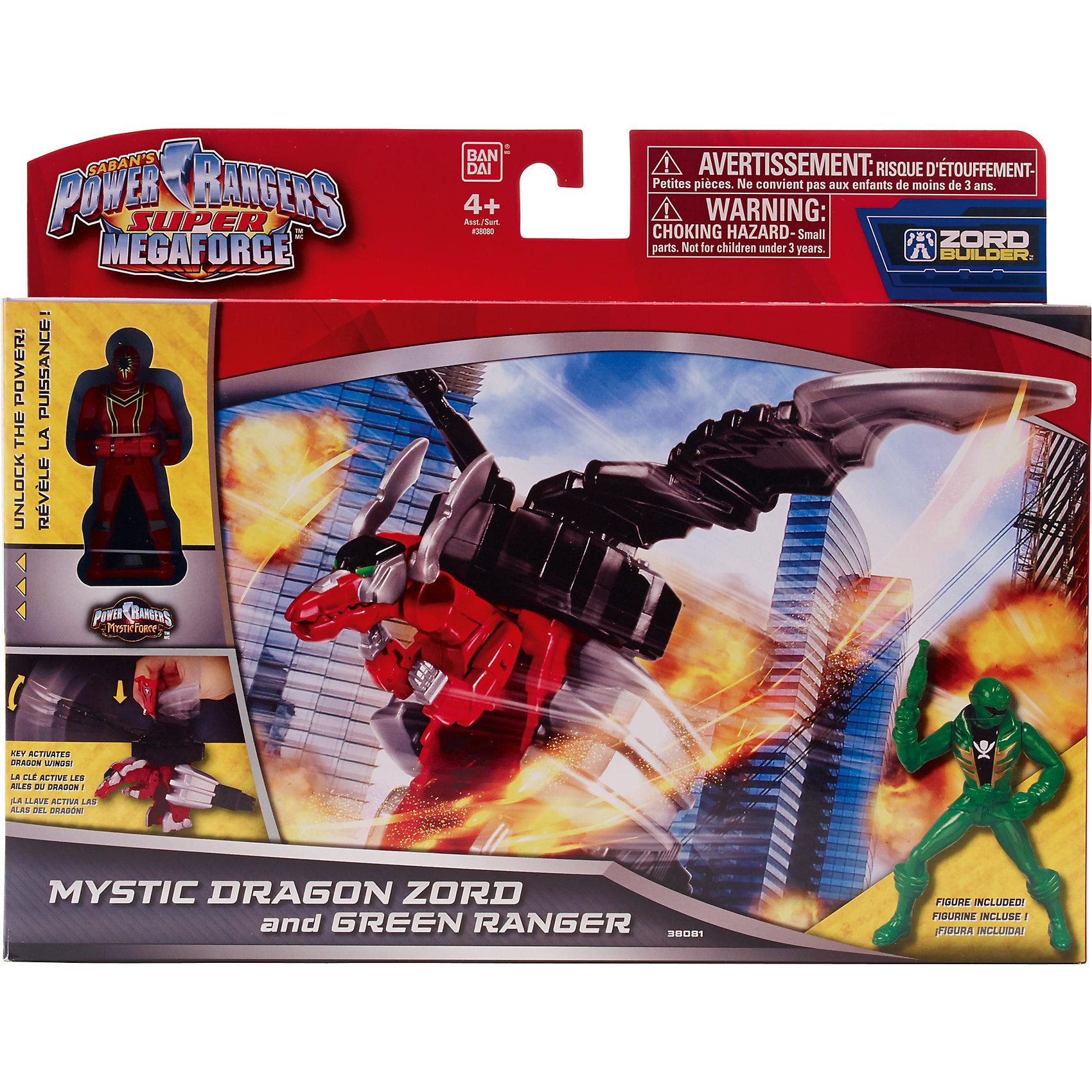 BANDAI Набор Зорда и фигурки рейнджера, Power Rangers bandai bandai power rangers игровой набор могучие рейнджеры рейнджер с оружием
