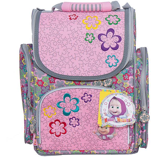 Ортопедический средний рюкзак Сказка, Маша и МедведьМаша и Медведь<br>Удобный и очень красивый рюкзак Сказка, Маша и Медведь просто создан, чтобы раскрасить школьные будни Вашей принцессы. Компактный и вместительный, он украшен яркой объемной аппликацией! Каркасный рюкзак Сказка, Маша и Медведь очень удобен для школьников: в основное отделение помещаются листы формата А4. Тетради и учебники никогда не помнутся в таком рюкзаке. Ребенку всегда легко будет найти в нем нужные вещи: спереди есть карман для пенала на молнии, внутри - место для ключей и личной карточки. В рюкзаке Сказка, Маша и Медведь все продумано для того, чтобы осанка ребенка не страдала при ежедневной носке портфеля: плотная спинка создана из дышащего материала, а плотные вставки из поролона помогают правильно распределять нагрузку на плечевой пояс. В темное время суток ребенка с рюкзаком легко заметить благодаря наличию светоотражающих элементов. Носить рюкзак легко и на плечах и в руке. Дно эффективно защитят от загрязнений пластиковые ножки. А обладательницу рюкзака особенно принт с озорницей Машей на кармашке и замечательные подвески на молнии.<br>  <br>Дополнительная информация: <br><br>- Ортопедическая спинка;<br>- Два удобных внутренних отделения;<br>- Ручка для переноски;<br>- Наружные карманы на молнии;<br>- Рюкзак сделан из износостойкого водонепроницаемого материала;<br>- Понравится поклонникам мультсериала Маша и Медведь;<br>- Высота боковых карманов: 24 см;<br>- Размер: 31 х 18 х 36 см;<br>- Вес: 1,34 кг<br><br>Ортопедический средний рюкзак Сказка, Маша и Медведь можно купить в нашем интернет-магазине.<br>Ширина мм: 310; Глубина мм: 180; Высота мм: 360; Вес г: 1340; Возраст от месяцев: 36; Возраст до месяцев: 108; Пол: Женский; Возраст: Детский; SKU: 4121041;