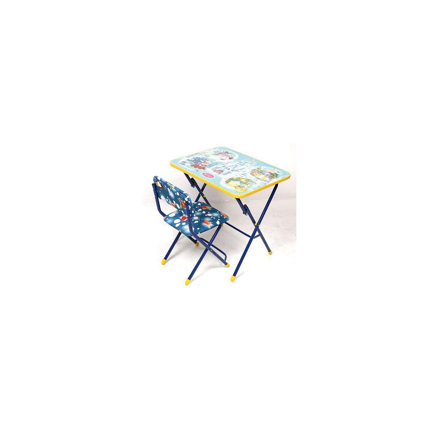 Набор мебели Волшебный мир принцессМебель<br>Набор детской мебели Волшебный мир принцесс состоит из складных стола и стула. Столешница облицована пленками, с различными тематическими рисунками (игра, ПДД, географическая карта , маленькая принцесса, азбука). Сиденье стульчика имеет мягкую обивку из флока ярких расцветок. На ножках стула установлены пластмассовые наконечники. <br><br>Характеристики:<br>-Цвет: синий, голубой<br>-Серия: Принцессы Диснея<br>-Тип стула: складной с мягким сиденьем<br>-Группа роста: 1,3-1,45 м<br>-Металлический каркас<br>-При хранении и транспортировке не занимает много места, собирается в плоскость до 10 см толщиной<br><br>Дополнительная информация:<br>-Размер стола: 600х450х570 мм<br>-Размеры стула: 340х300х300 мм<br>-Материалы: флок, металл<br><br>Набор детской складной мебели порадует маленьких любительниц принцесс Диснея!<br><br>Набор детской мебели Волшебный мир принцесс можно купить в нашем магазине.<br><br>Ширина мм: 740<br>Глубина мм: 620<br>Высота мм: 150<br>Вес г: 9000<br>Возраст от месяцев: 36<br>Возраст до месяцев: 120<br>Пол: Женский<br>Возраст: Детский<br>SKU: 4121120