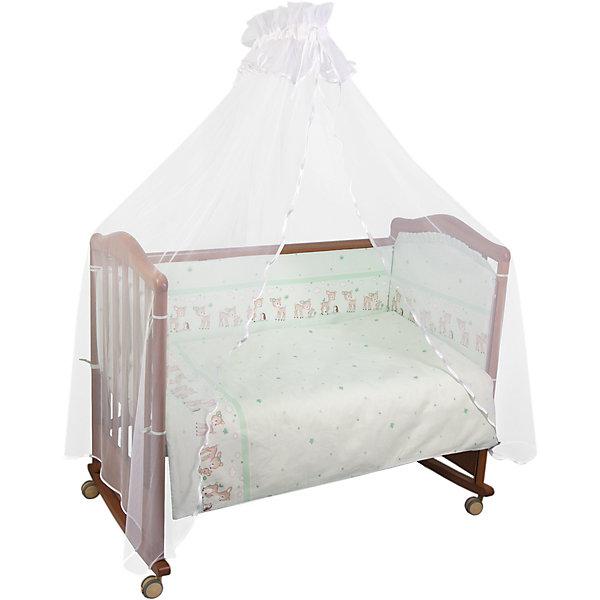Постельное белье Оленята 3 пред., Сонный гномик, зеленыйПостельное белье в кроватку новорождённого<br>Состав ткани: нежная бязь из самой тонкой нити. 100% хлопок безупречной выделки, ткань с авторским рисунком деликатные швы, рассчитанные на прикосновение к нежной коже ребёнка. Комплект состоит из наволочки (40х60 см), простыни (100х140 см) и пододеяльника (110х140 см)<br><br>Постельное белье Оленята 3 пред., Сонный гномик, зеленый можно купить в нашем магазине.<br><br>Ширина мм: 320<br>Глубина мм: 50<br>Высота мм: 450<br>Вес г: 900<br>Возраст от месяцев: 0<br>Возраст до месяцев: 48<br>Пол: Унисекс<br>Возраст: Детский<br>SKU: 4122108