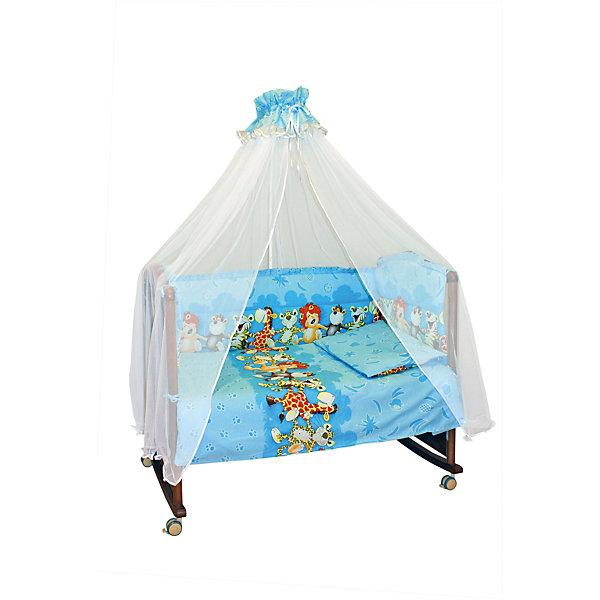 Детское постельное белье 3 предмета Сонный гномик, Африка, голубойПостельное белье в кроватку новорождённого<br>Состав ткани: нежная бязь из самой тонкой нити. 100% хлопок безупречной выделки, ткань с авторским рисунком деликатные швы, рассчитанные на прикосновение к нежной коже ребёнка. Комплект состоит из наволочки (40х60 см), простыни (100х140 см) и пододеяльника (110х140 см)<br><br>Постельное белье Африка 3 пред., Сонный гномик, голубой можно купить в нашем магазине.<br>Ширина мм: 320; Глубина мм: 50; Высота мм: 450; Вес г: 900; Возраст от месяцев: 0; Возраст до месяцев: 48; Пол: Мужской; Возраст: Детский; SKU: 4122110;