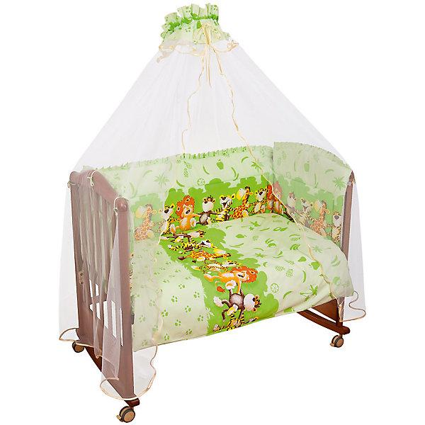 Постельное белье Африка 3 пред., Сонный гномик, салатовыйПостельное белье в кроватку новорождённого<br>Характеристики:<br><br>• Вид детского текстиля: постельное белье<br>• Тип постельного белья по размерам: детское<br>• Пол: универсальный<br>• Серия: Африка<br>• Тематика рисунка: природа, животные<br>• Сезон: круглый год<br>• Материал: бязь, хлопок 100%<br>• Цвет: салатовый, белый, коричневый, оранжевый<br>• Комплектация: <br> пододеяльник – 1 шт. 110*140 см <br> простынь – 1 шт. 100*140 см<br> наволочка – 1 шт.40*60 см<br>• Упаковка: полиэтилен <br>• Вес в упаковке: 790 г<br>• Особенности ухода: машинная стирка при температуре 30 градусов<br><br>Постельное белье Африка 3 пред., Сонный гномик, салатовый от отечественного торгового бренда выполнено с учетом международных требований к качеству и безопасности товаров для детей. Комплект предназначен для детских кроваток, спальное место которых составляет не менее 120*60 см. В состав комплекта входит простынь, наволочка и пододеяльник. Все изделия выполнены из 100% хлопка с повышенными качественными характеристиками: гигроскопичное, гипоаллергенное, устойчивое к изменению цвета и формы, а также к изминанию, что наиболее важно для детского постельного белья. Простынь и пододеяльник изготовлены из цельного полотна, боковые швы – закрытые, что обеспечивает их прочность и надежность. Постельное белье выполнено в ярких тонах с широкой полосой из изображений животных и растительности Африки. <br>Постельное белье Африка 3 пред., Сонный гномик, салатовый – детское постельное белье, которое создает уютную и спокойную атмосферу для крепкого детского сна! <br><br>Постельное белье Африка 3 пред., Сонный гномик, салатовый можно купить в нашем интернет-магазине.<br><br>Ширина мм: 320<br>Глубина мм: 50<br>Высота мм: 450<br>Вес г: 900<br>Возраст от месяцев: 0<br>Возраст до месяцев: 48<br>Пол: Унисекс<br>Возраст: Детский<br>SKU: 4122111