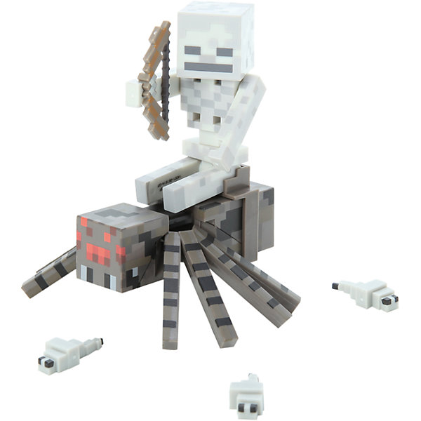 Фигурка Скелет с Пауком, 8 см, Minecraft